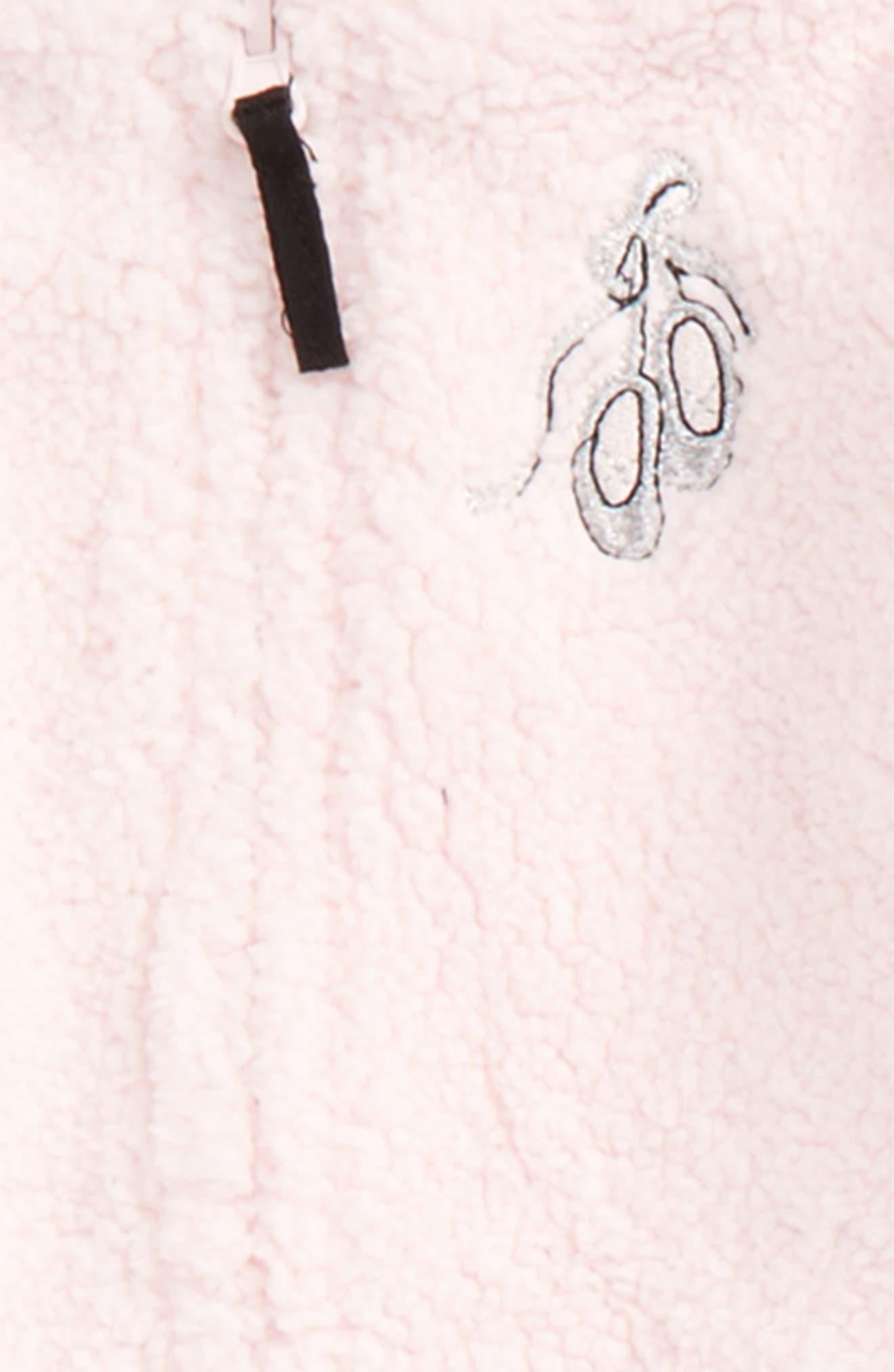 Ballet Fleece Hoodie, Bodysuit & Leggings Set,                             Alternate thumbnail 2, color,                             001