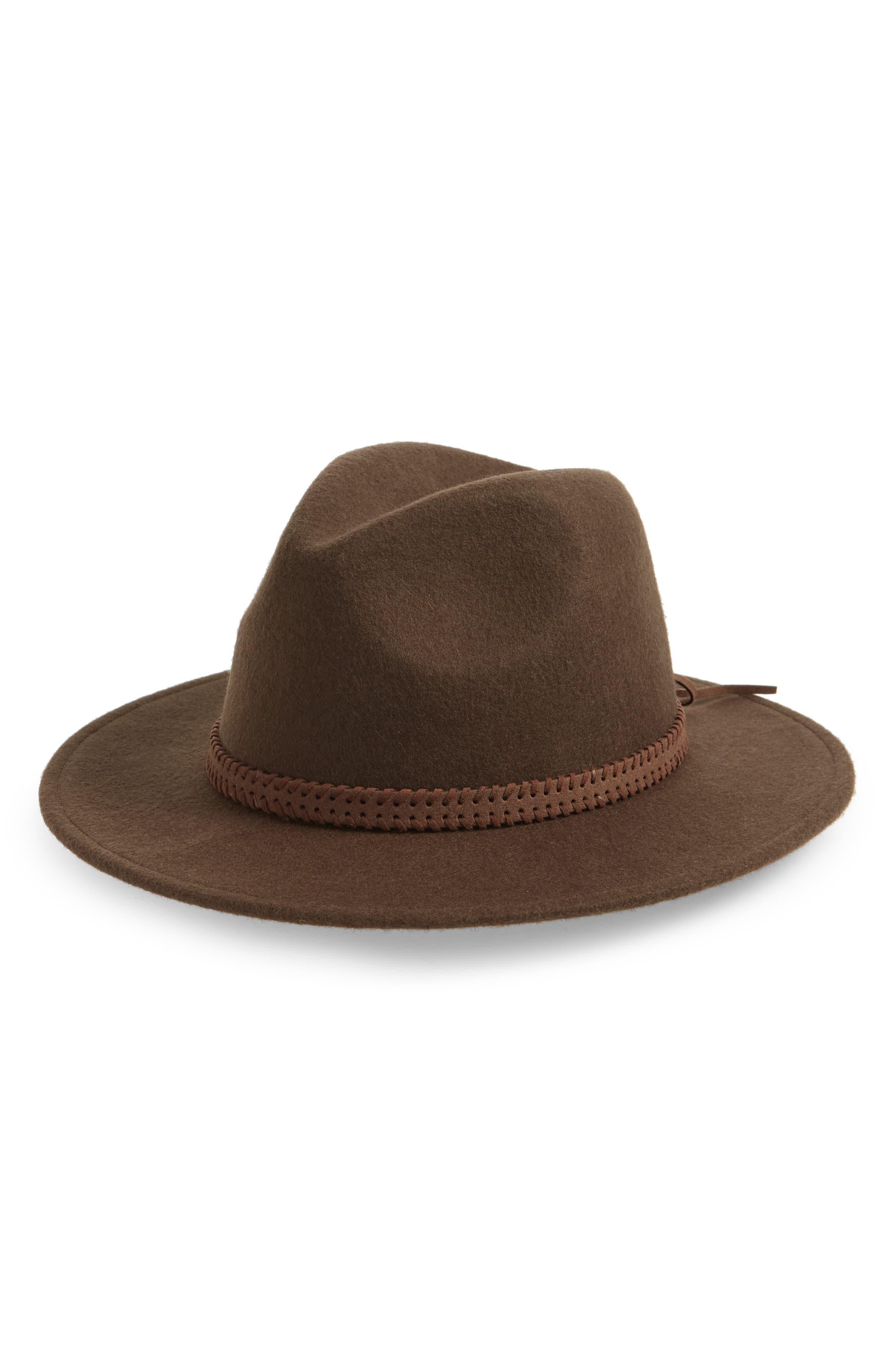 Felt Panama Hat, Main, color, DARK TAUPE