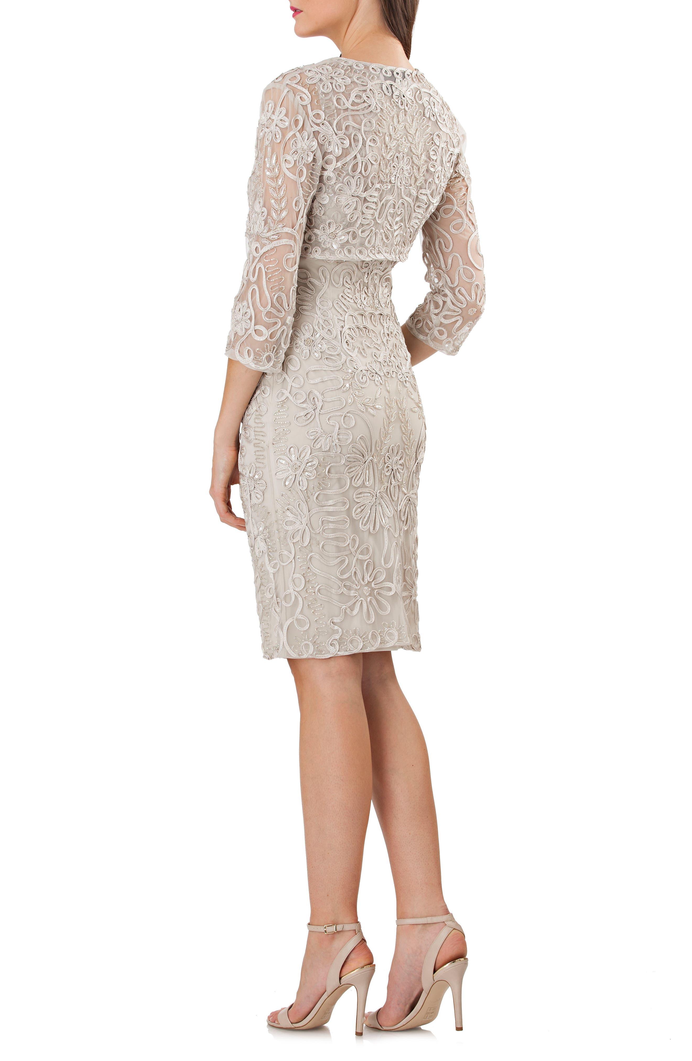 Soutache Bolero Sheath Dress,                             Alternate thumbnail 2, color,                             050