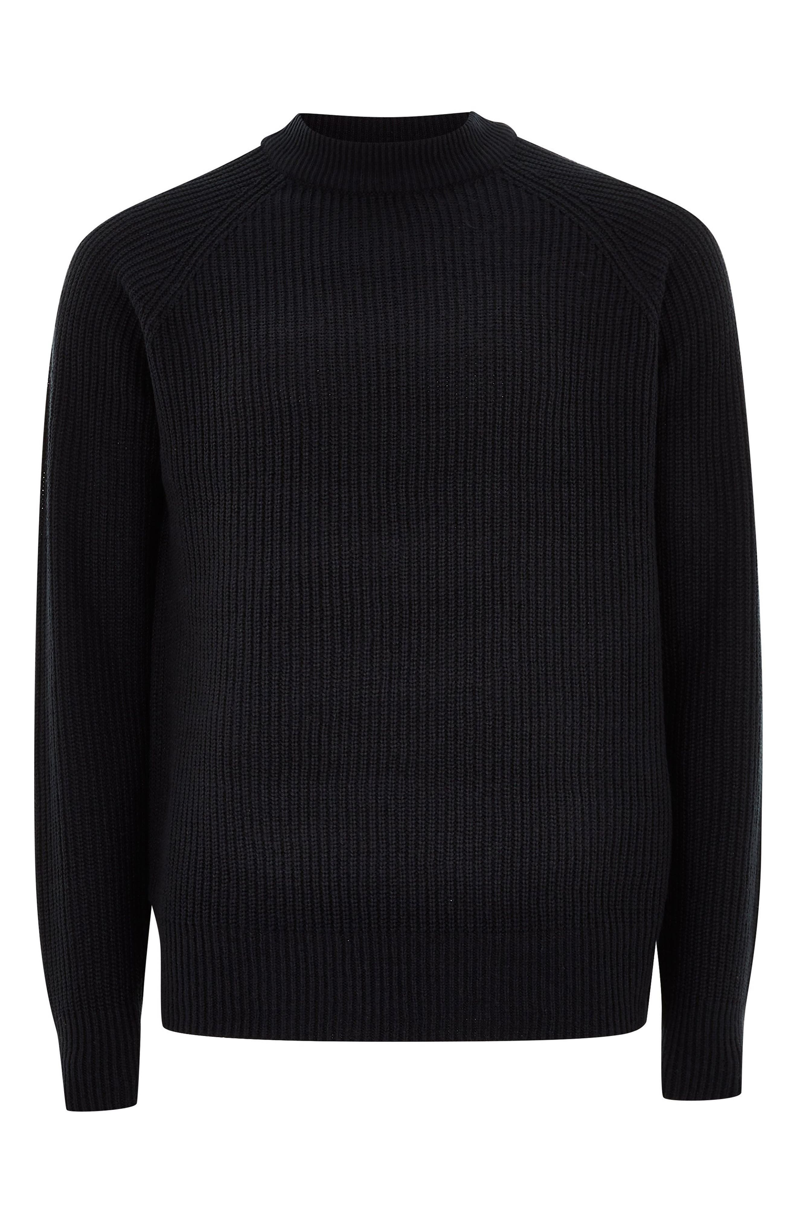 Ribbed Sweater,                             Alternate thumbnail 4, color,                             NAVY BLUE