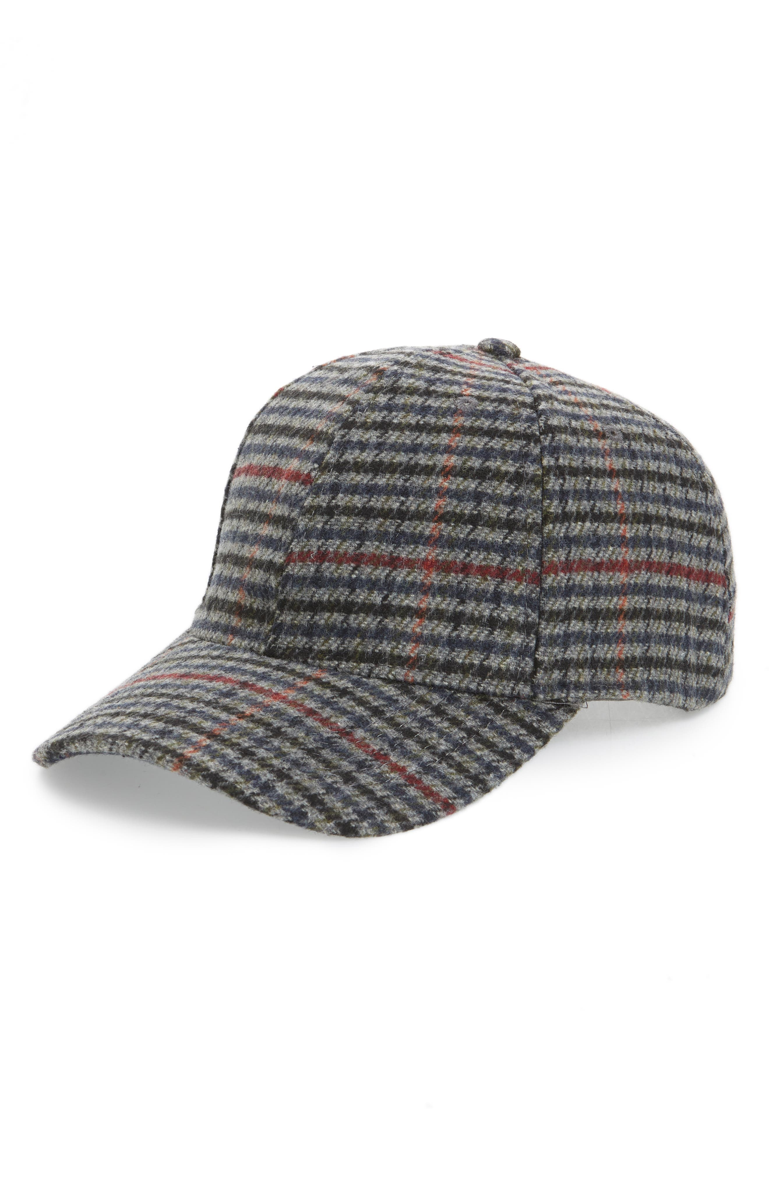 Check Ball Cap,                             Main thumbnail 1, color,                             GREY CASTLEROCK
