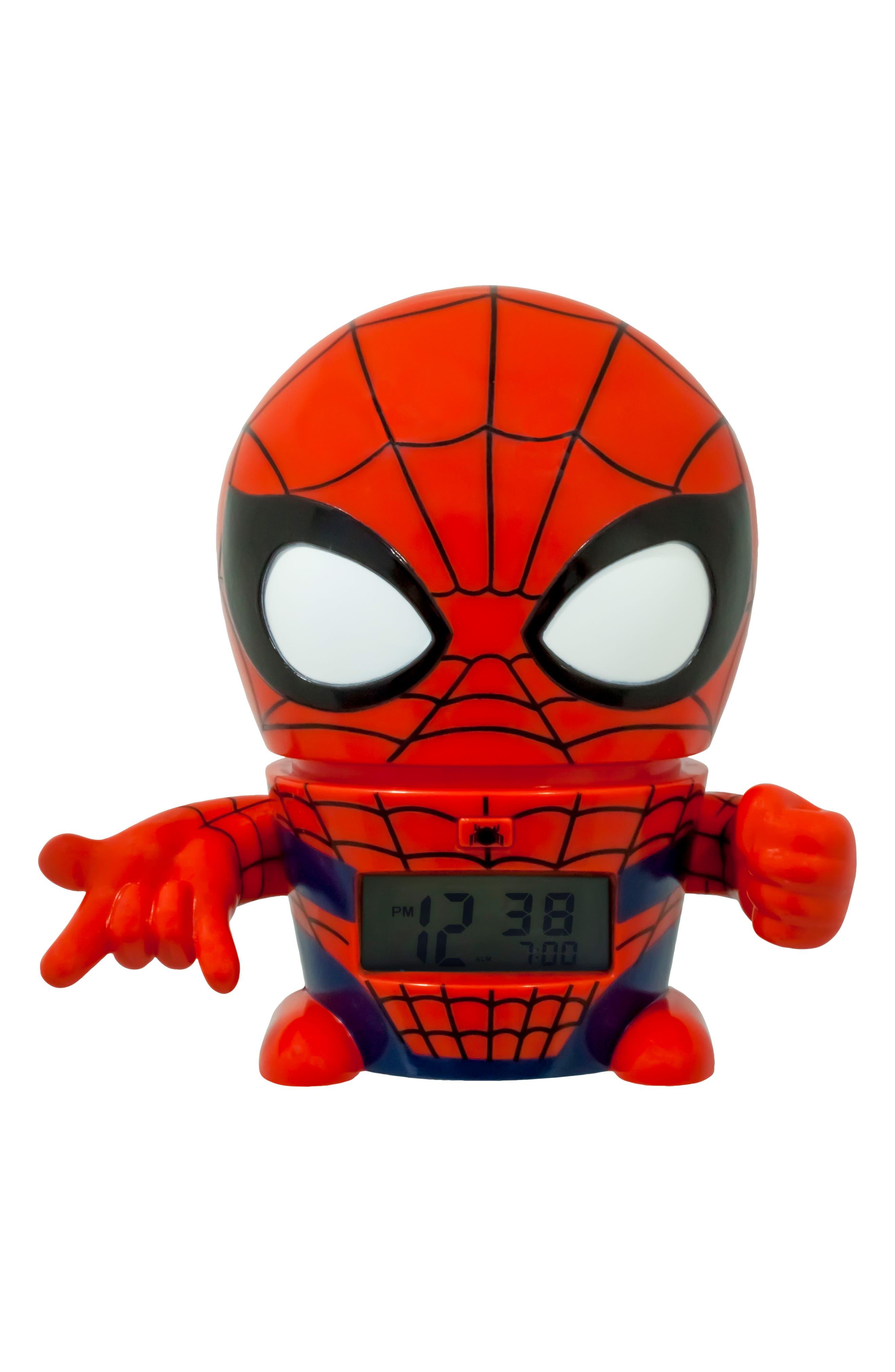 Marvel Spider-Man Night-Light/Alarm Clock,                             Main thumbnail 1, color,                             600