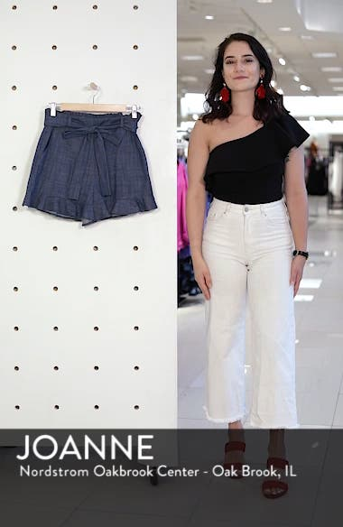 Tie Waist Chambray Shorts, sales video thumbnail