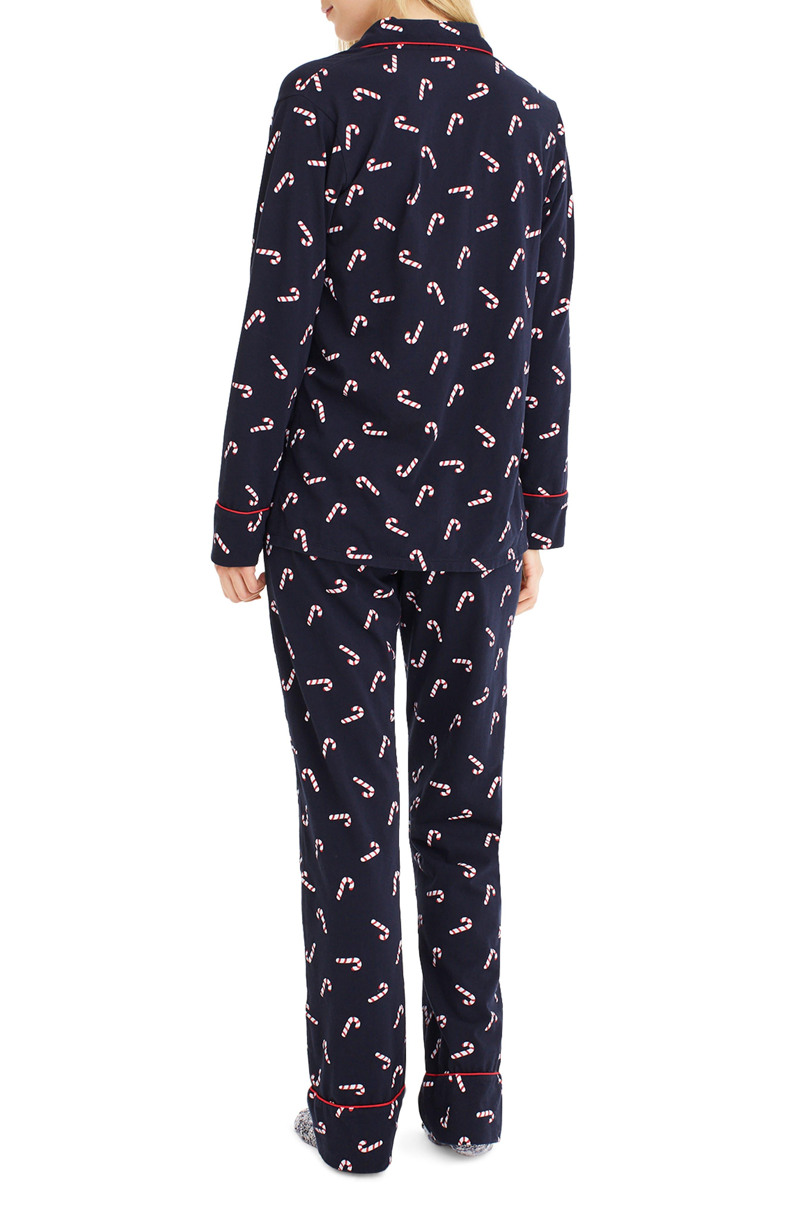 J.CREW,                             Candy Cane Dreamy Pajamas,                             Alternate thumbnail 2, color,                             409