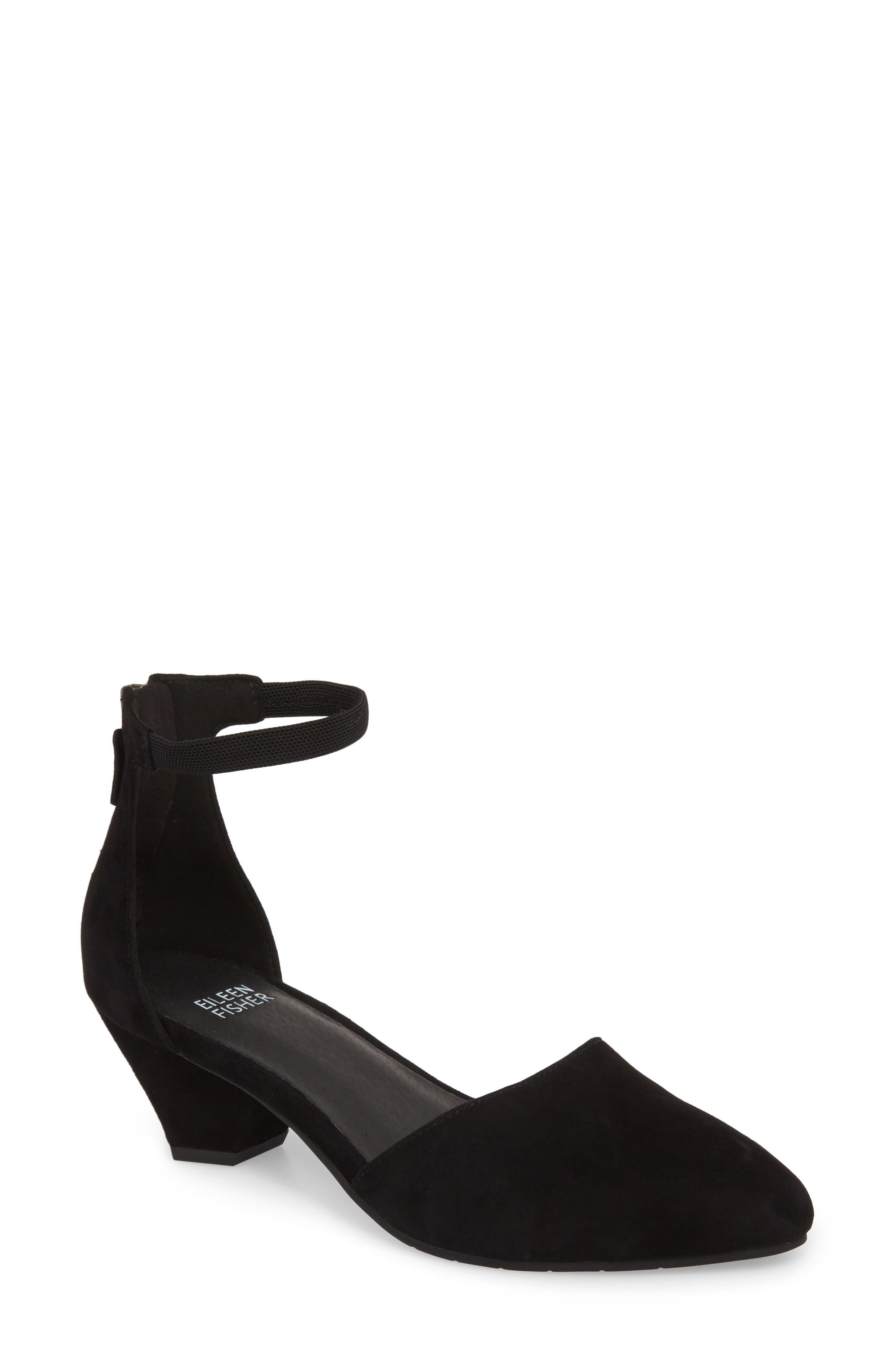 Just Open Sided Pump,                             Main thumbnail 1, color,                             BLACK SUEDE