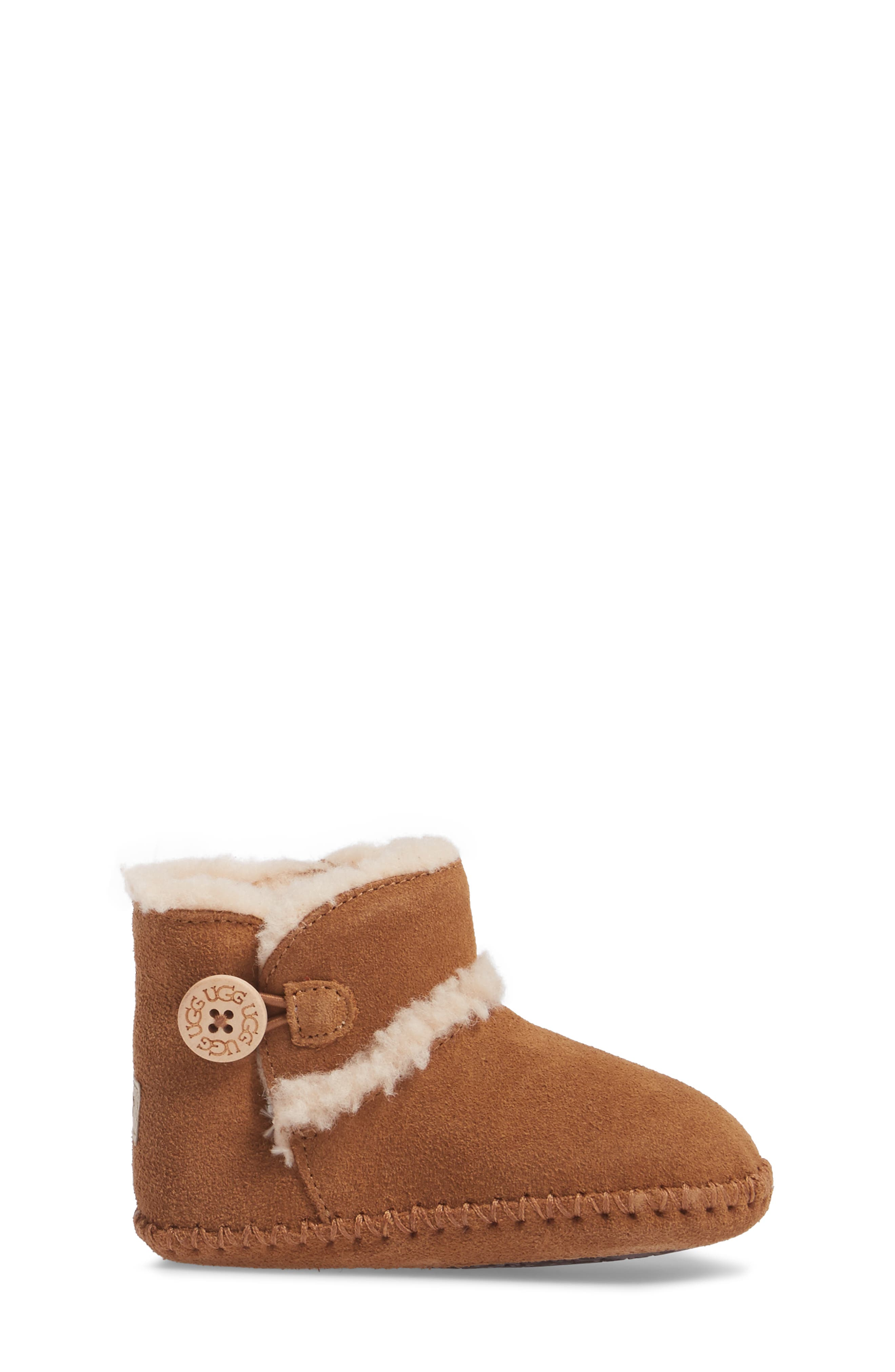 UGG<SUP>®</SUP>,                             Lemmy II Button Bootie,                             Alternate thumbnail 3, color,                             CHESTNUT