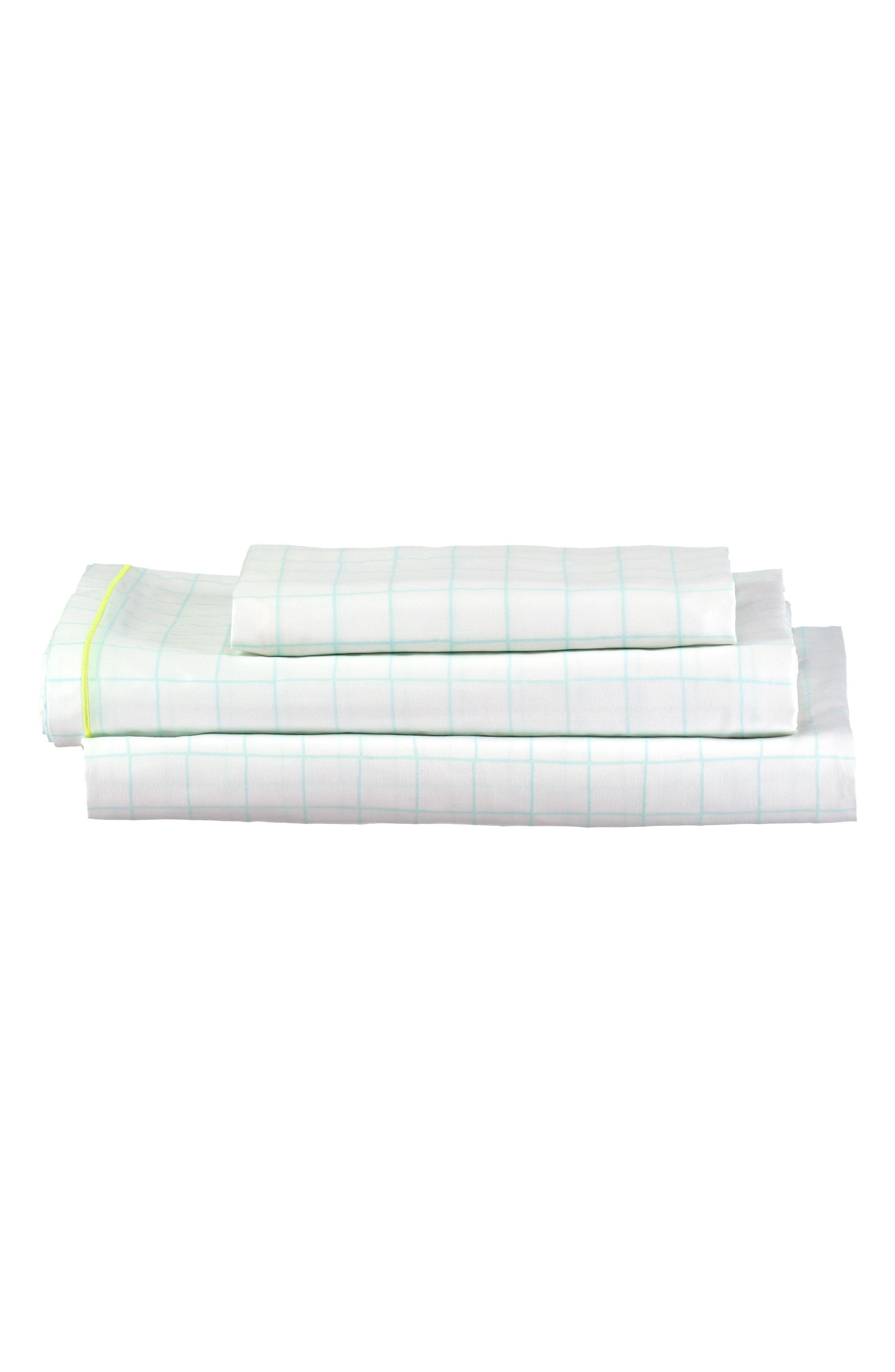 Twin Sheet & Pillowcase Set,                             Alternate thumbnail 3, color,                             MINT