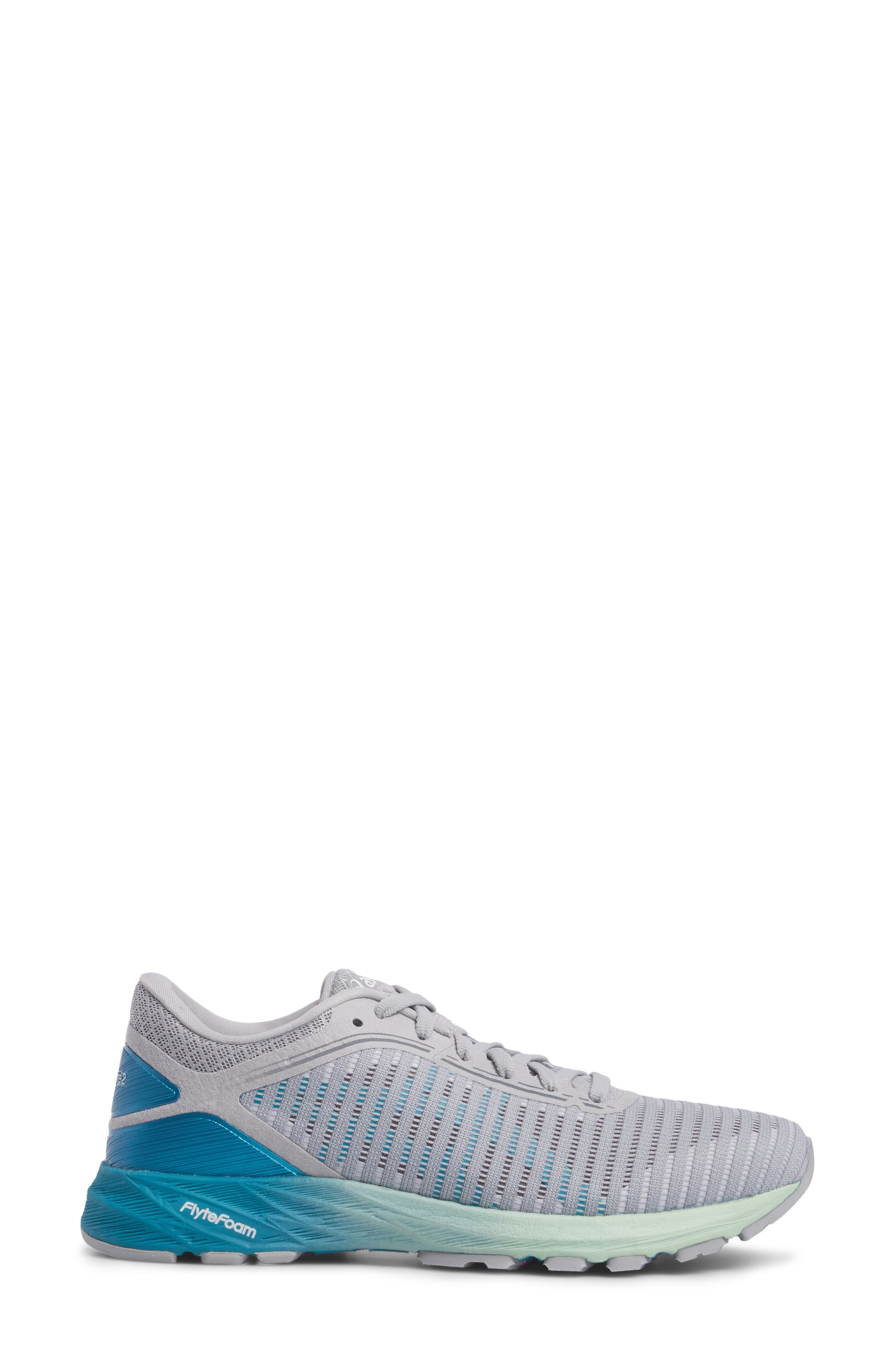 DynaFlyte 2 Running Shoe,                             Alternate thumbnail 3, color,                             MID GREY/ AQUA/ GLACIER