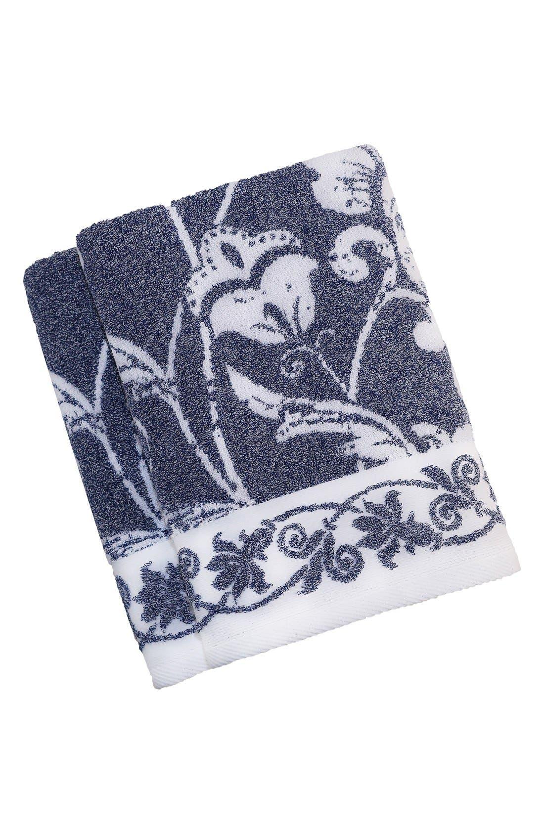 Linum 'Penelope' Turkish Cotton Bath Towels,                             Main thumbnail 1, color,                             OCEAN BLUE