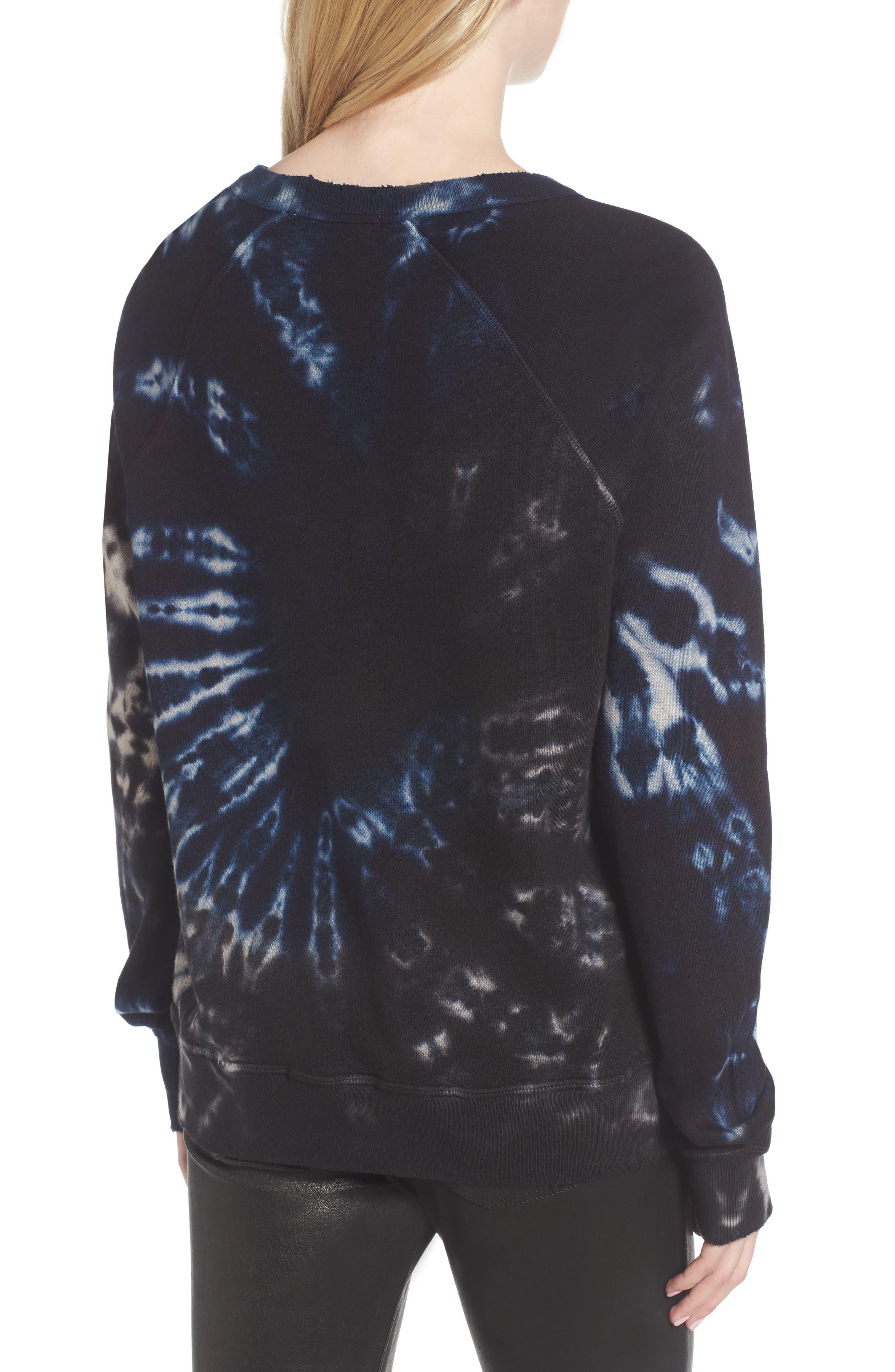 Nic Distressed Sweatshirt,                             Alternate thumbnail 2, color,                             010