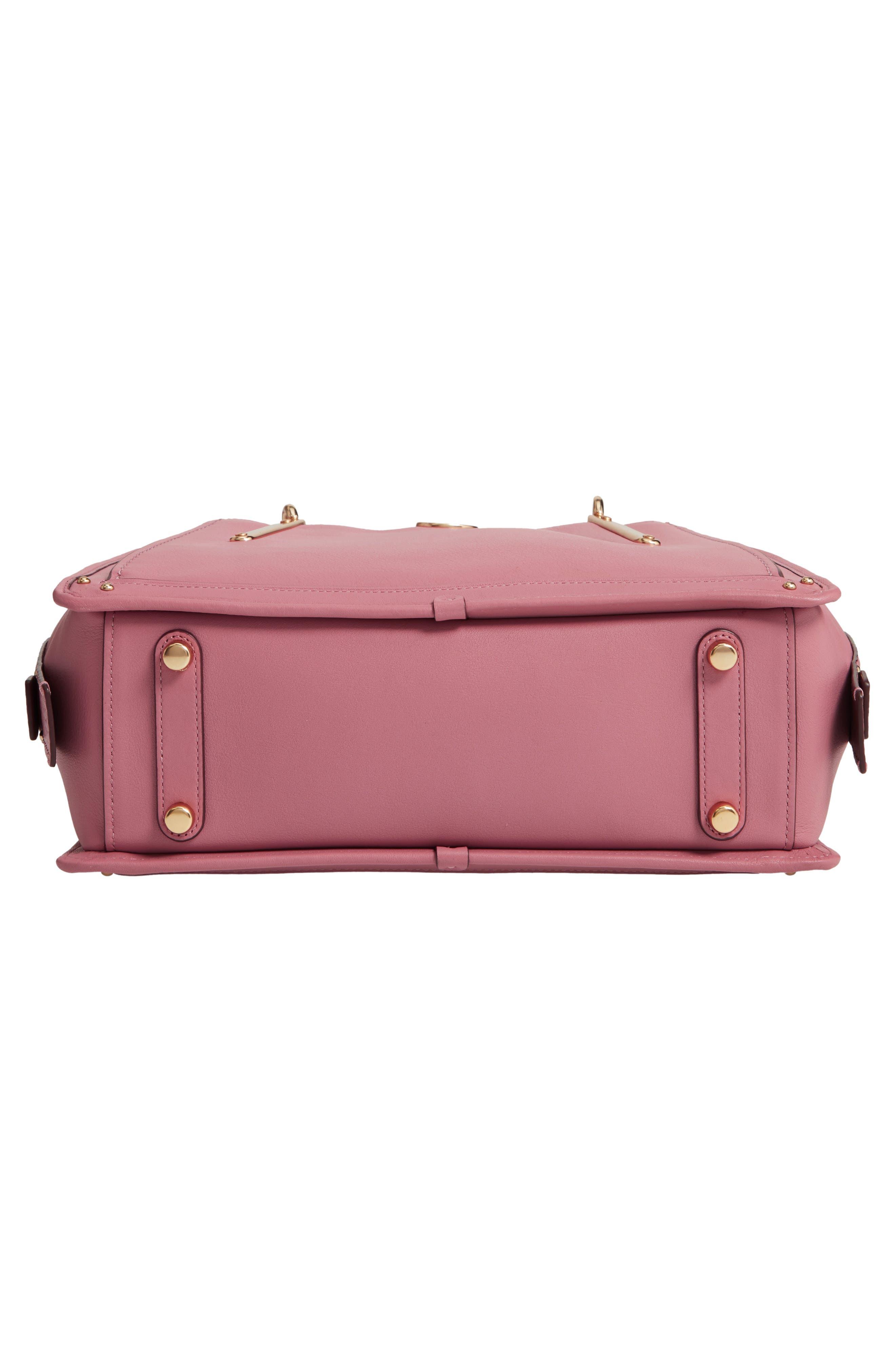 Dreamer Leather Handbag,                             Alternate thumbnail 6, color,                             ROSE MULTI