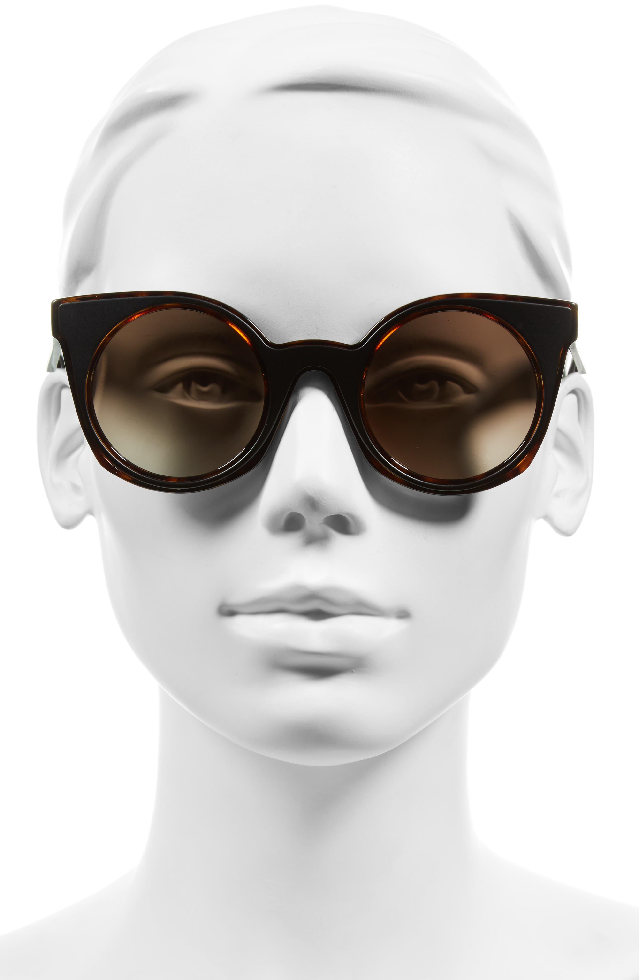 48mm Cat Eye Sunglasses,                             Alternate thumbnail 3, color,                             210