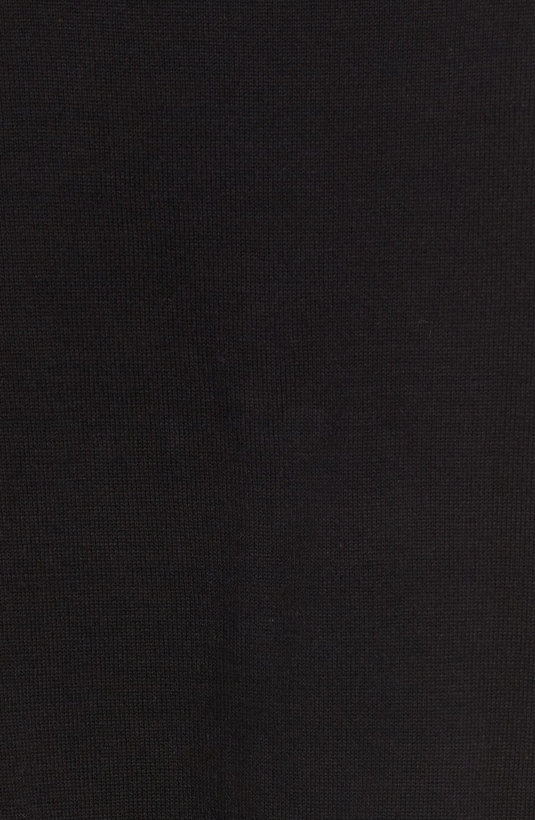 Nylon Trim Pullover,                             Alternate thumbnail 5, color,                             001