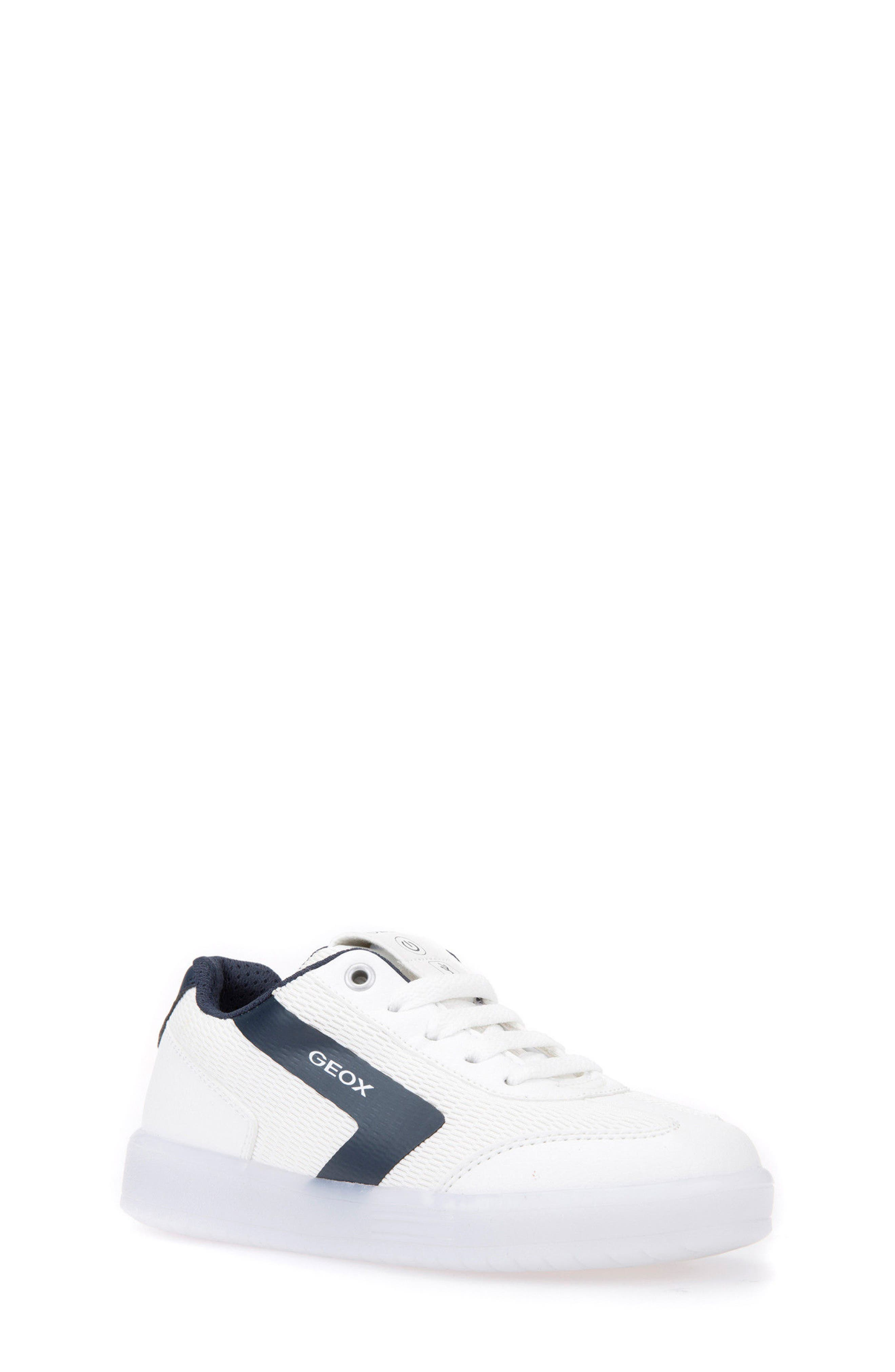 Kommodor Light-Up Low Top Sneaker,                             Main thumbnail 1, color,                             WHITE/ NAVY