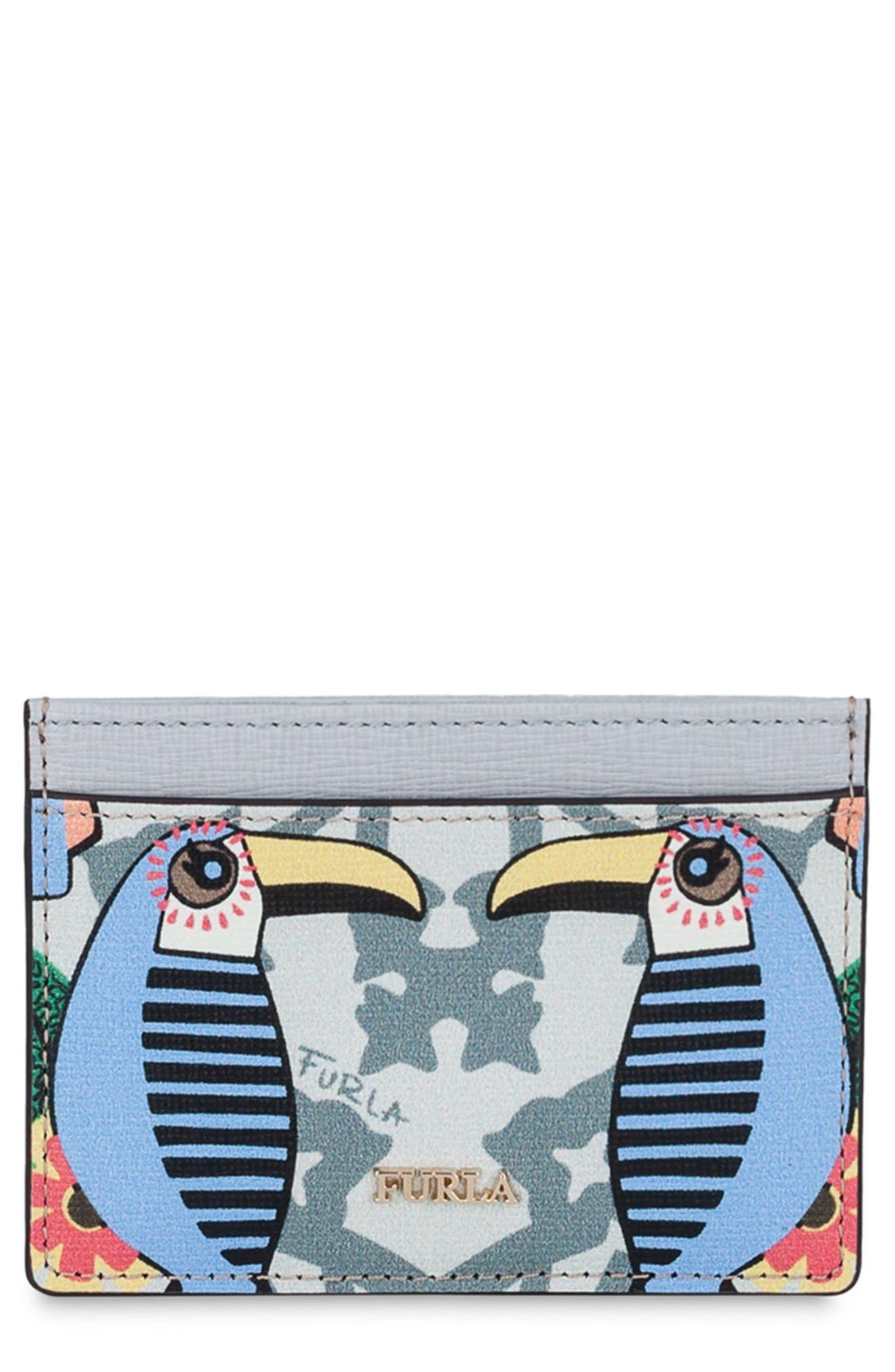 Babylon Saffiano Leather Card Case,                             Main thumbnail 2, color,