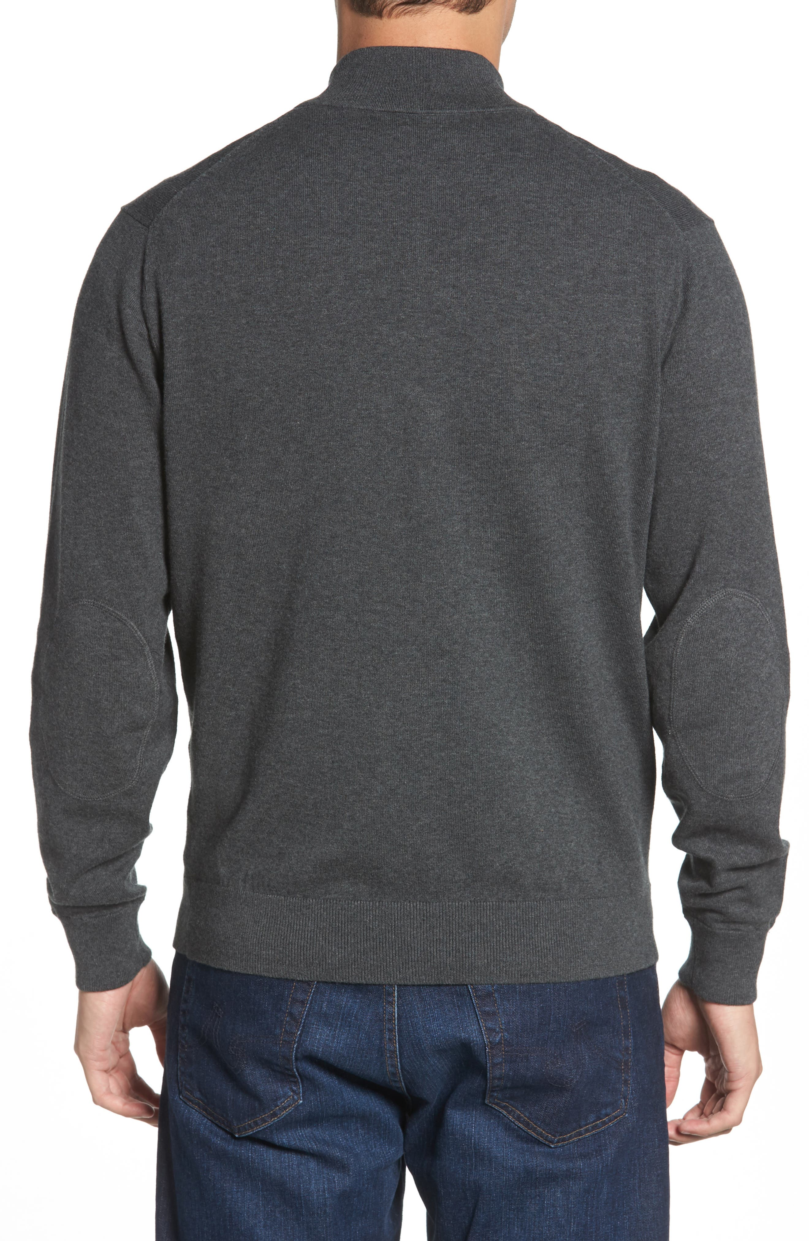 CUTTER & BUCK,                             Indianapolis Colts - Lakemont Regular Fit Quarter Zip Sweater,                             Alternate thumbnail 2, color,                             CHARCOAL HEATHER