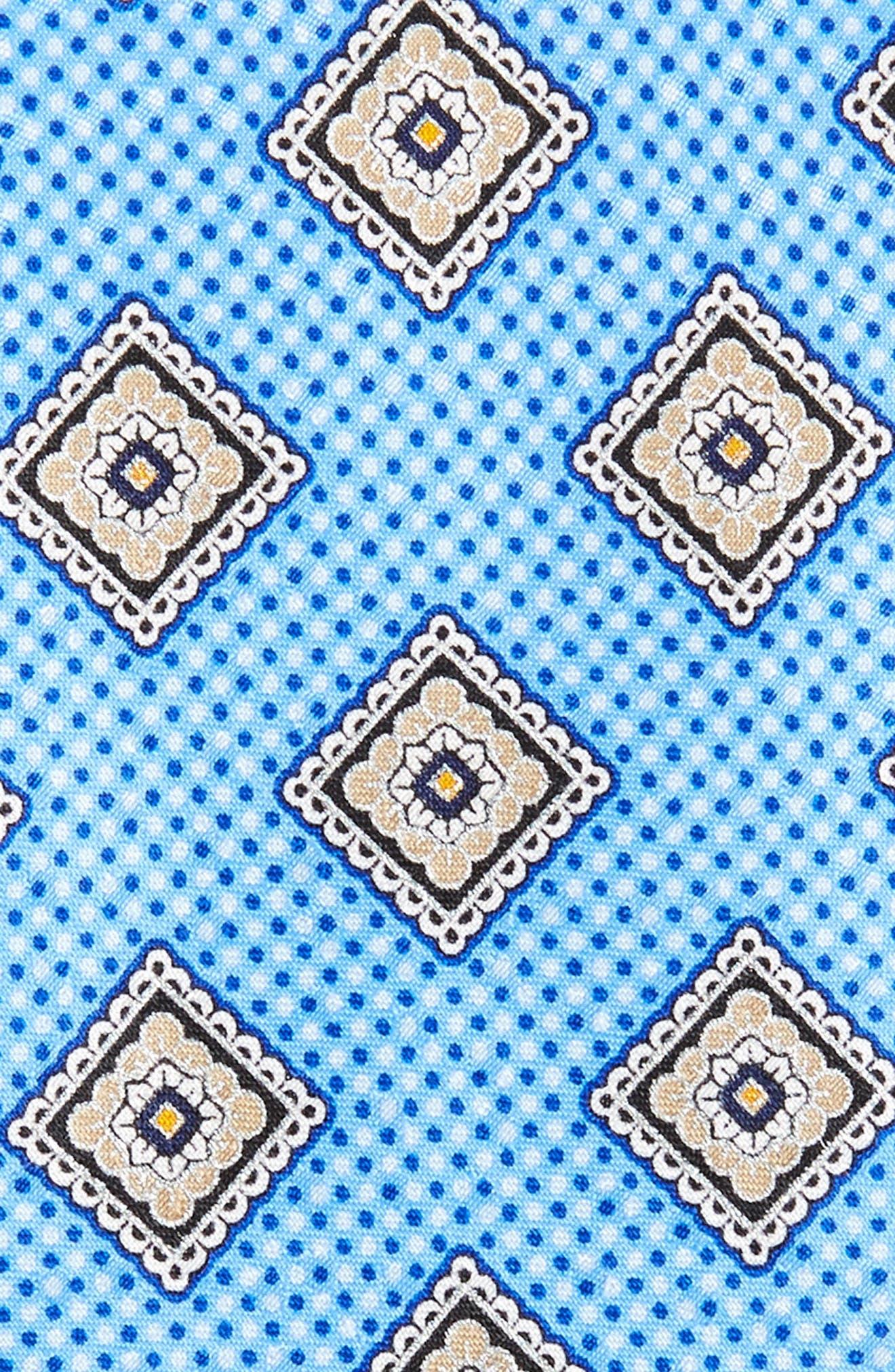 Medallion Silk Tie,                             Alternate thumbnail 2, color,                             425