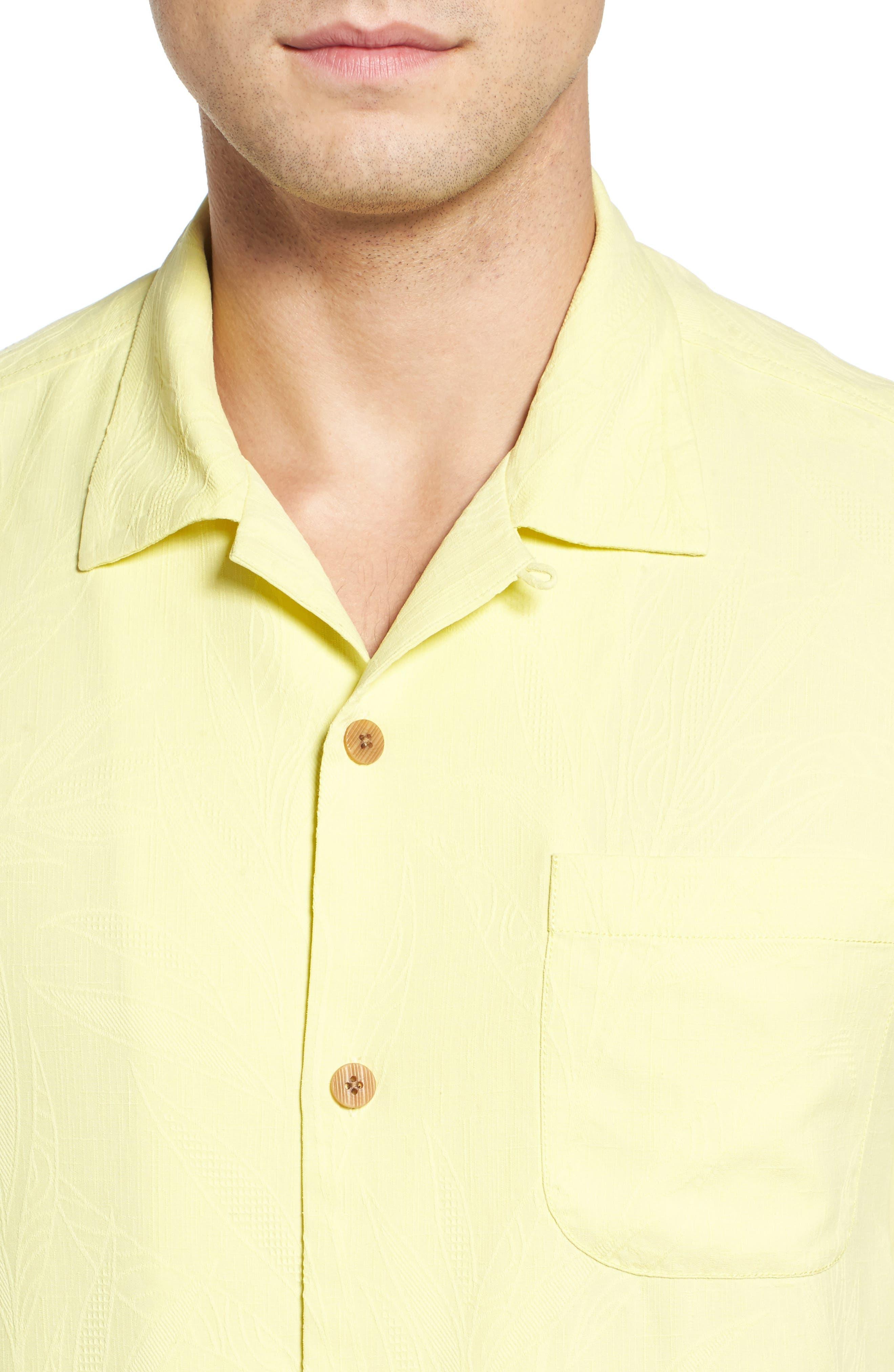 Islander Fronds Silk Camp Shirt,                             Alternate thumbnail 35, color,