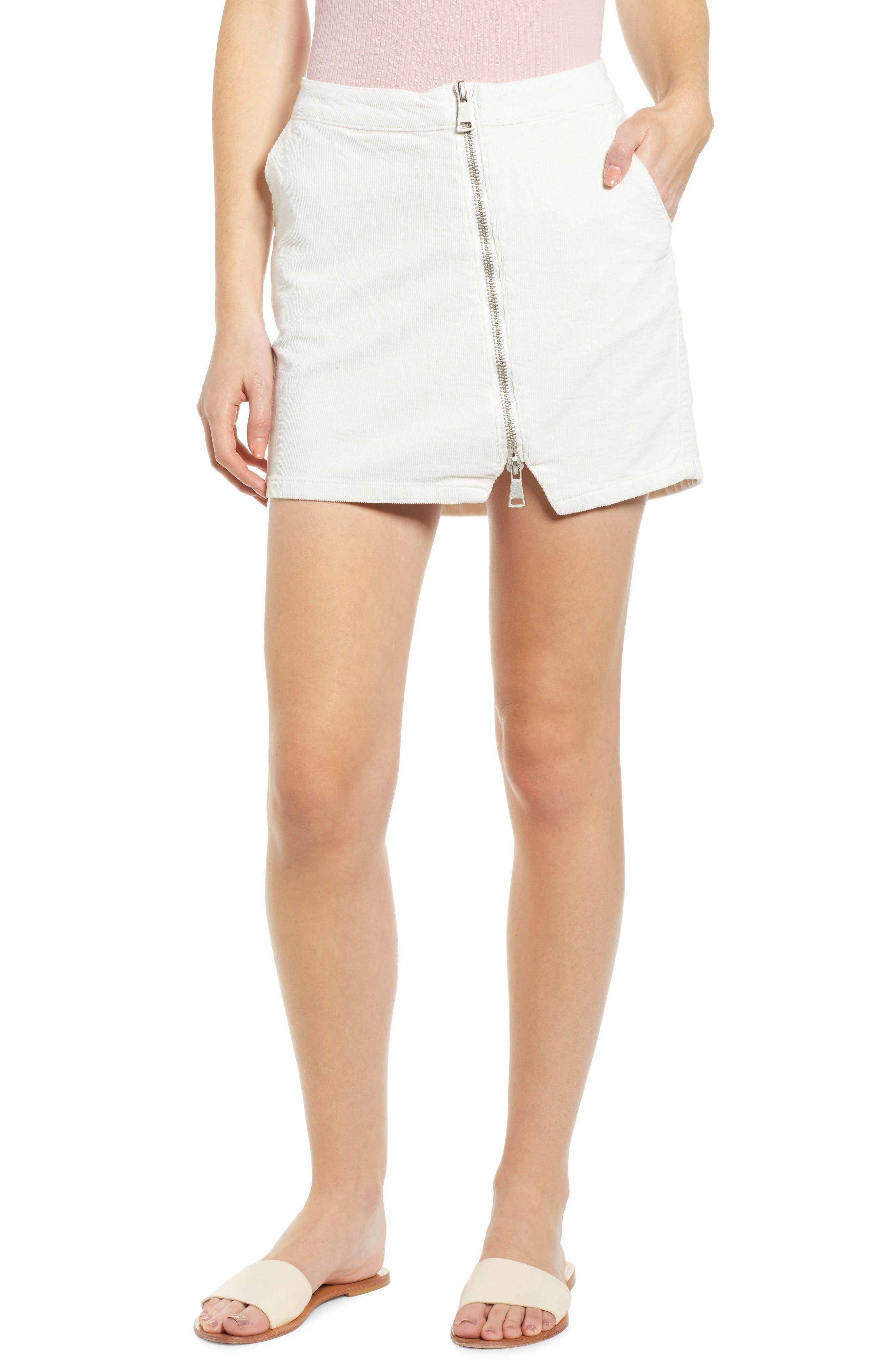 Lira Clothing Javelin Corduroy Miniskirt, Ivory