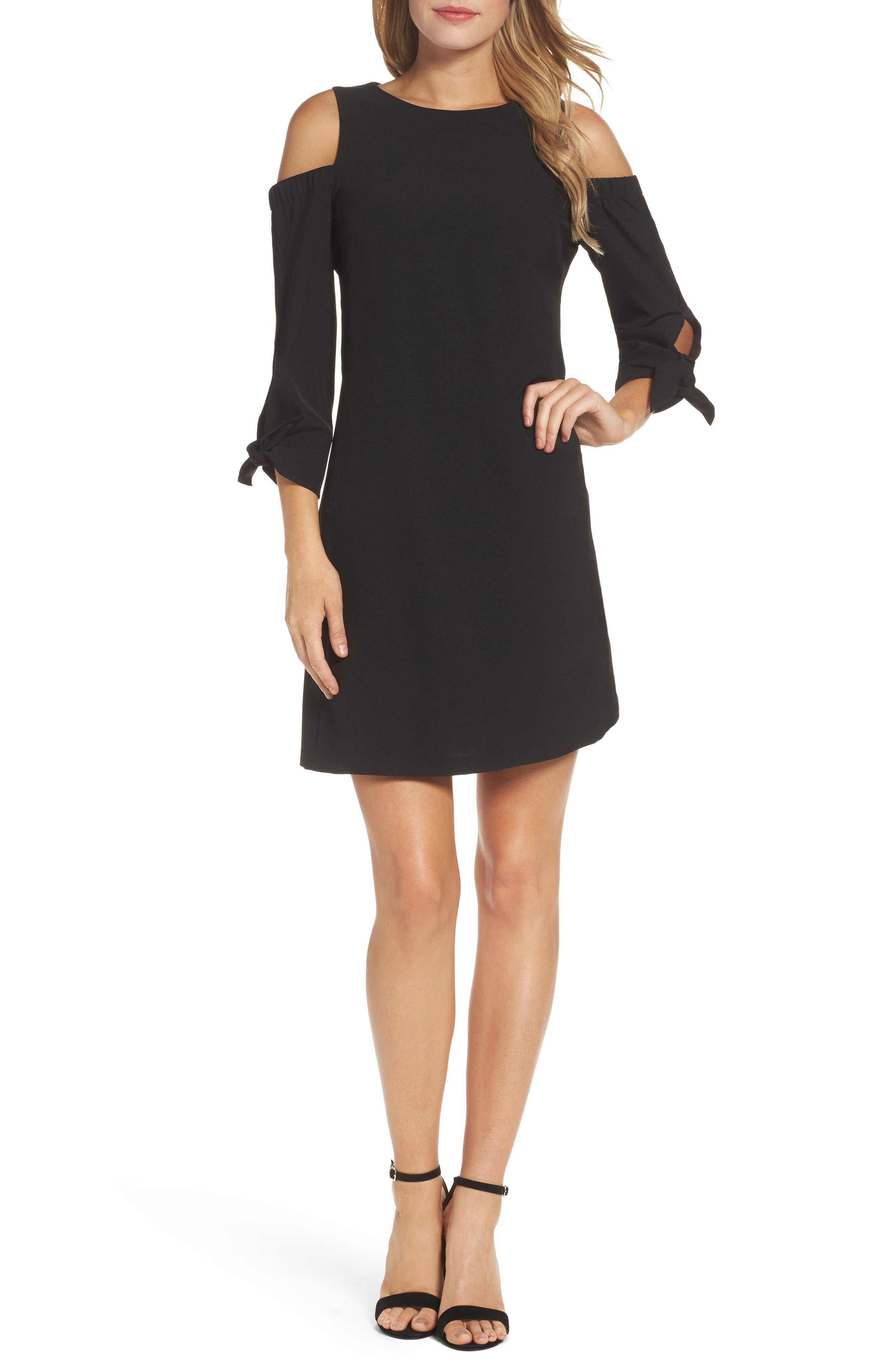 Cold Shoulder Shift Dress,                         Main,                         color, 001