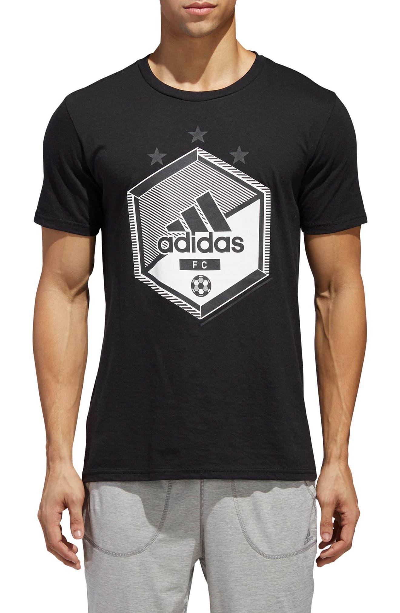 Slim Fit Soccer Graphic T-Shirt,                             Main thumbnail 1, color,                             001