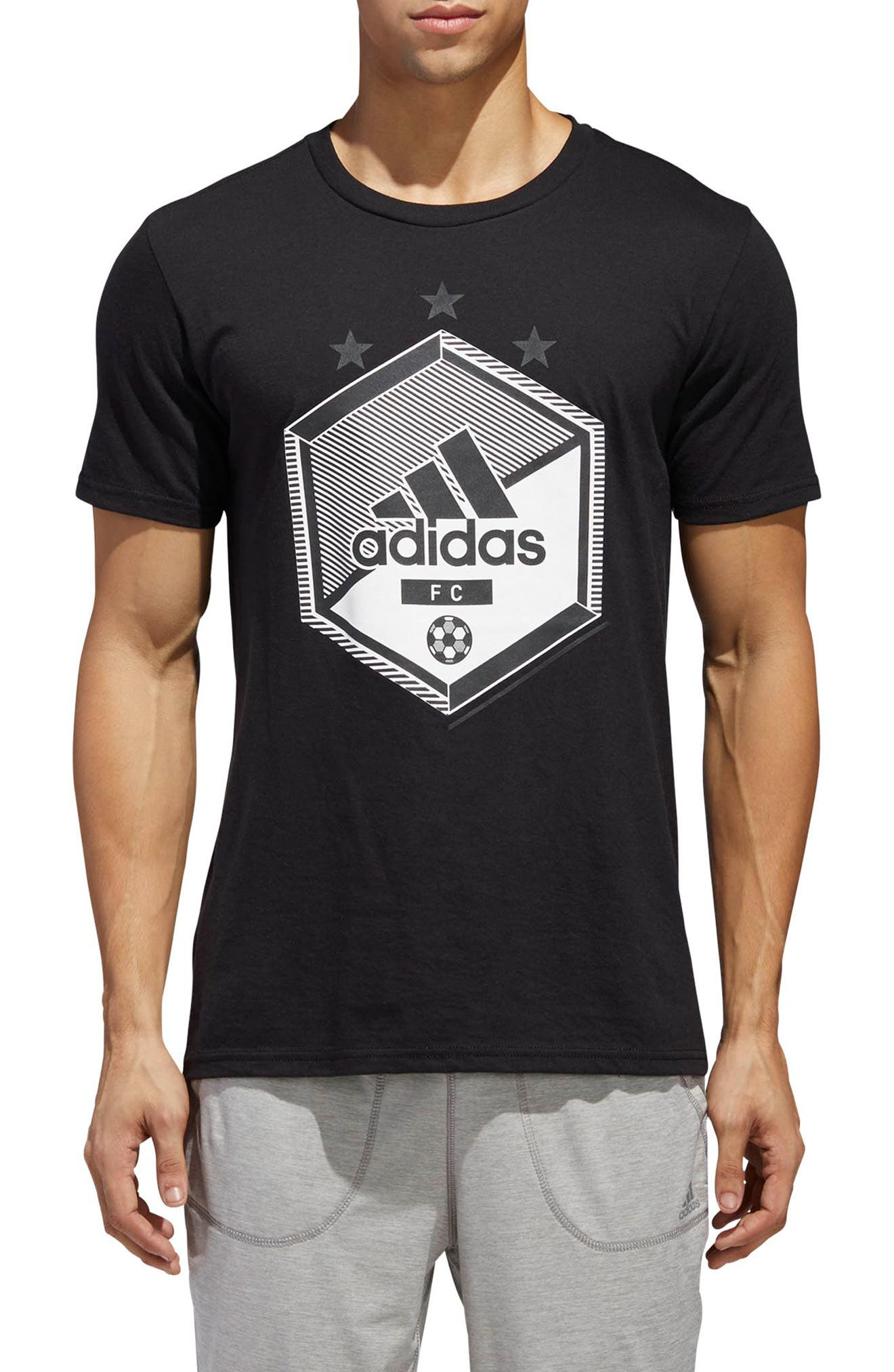 Slim Fit Soccer Graphic T-Shirt,                         Main,                         color, 001