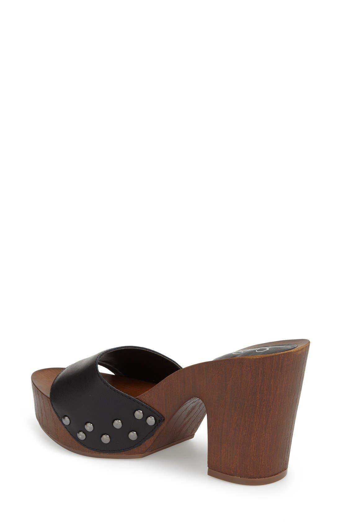 'Karema' Clog Platform Sandal,                             Alternate thumbnail 3, color,                             001