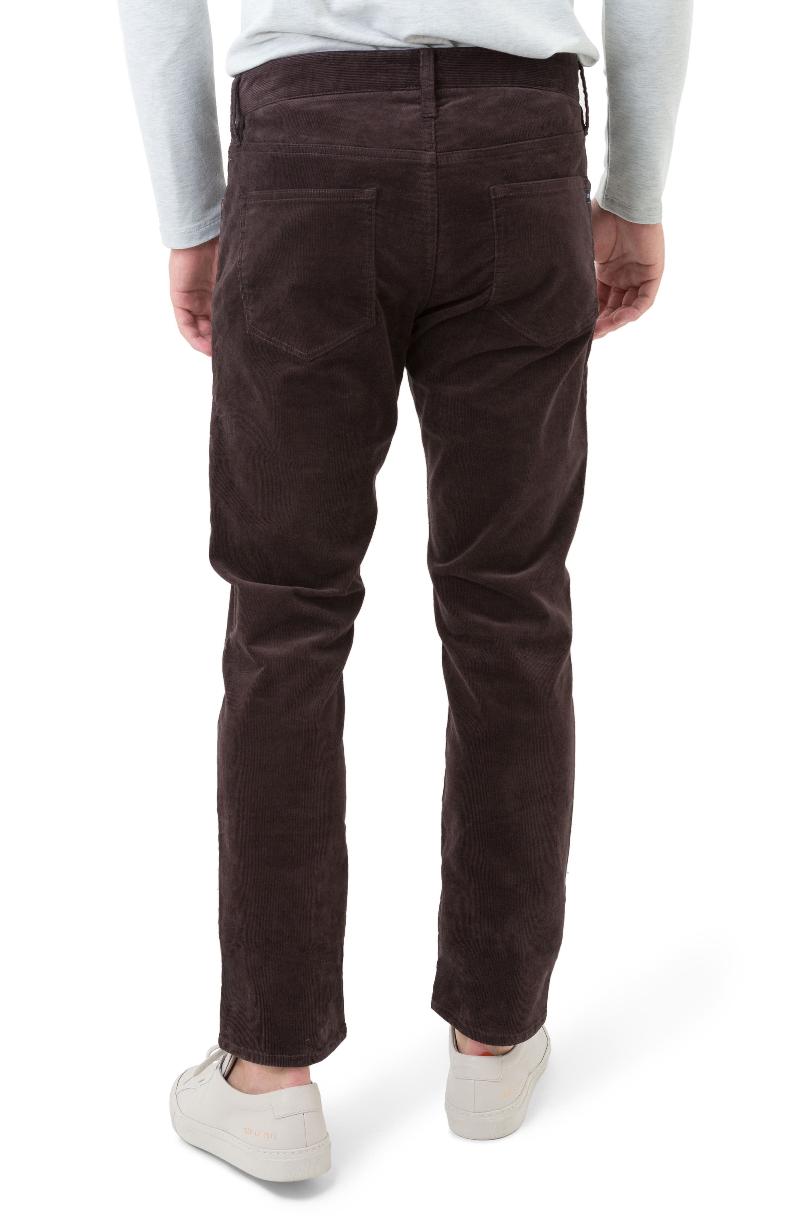 Courtland Slim Fit Corduroy Pants,                             Alternate thumbnail 2, color,                             MOCHA BROWN