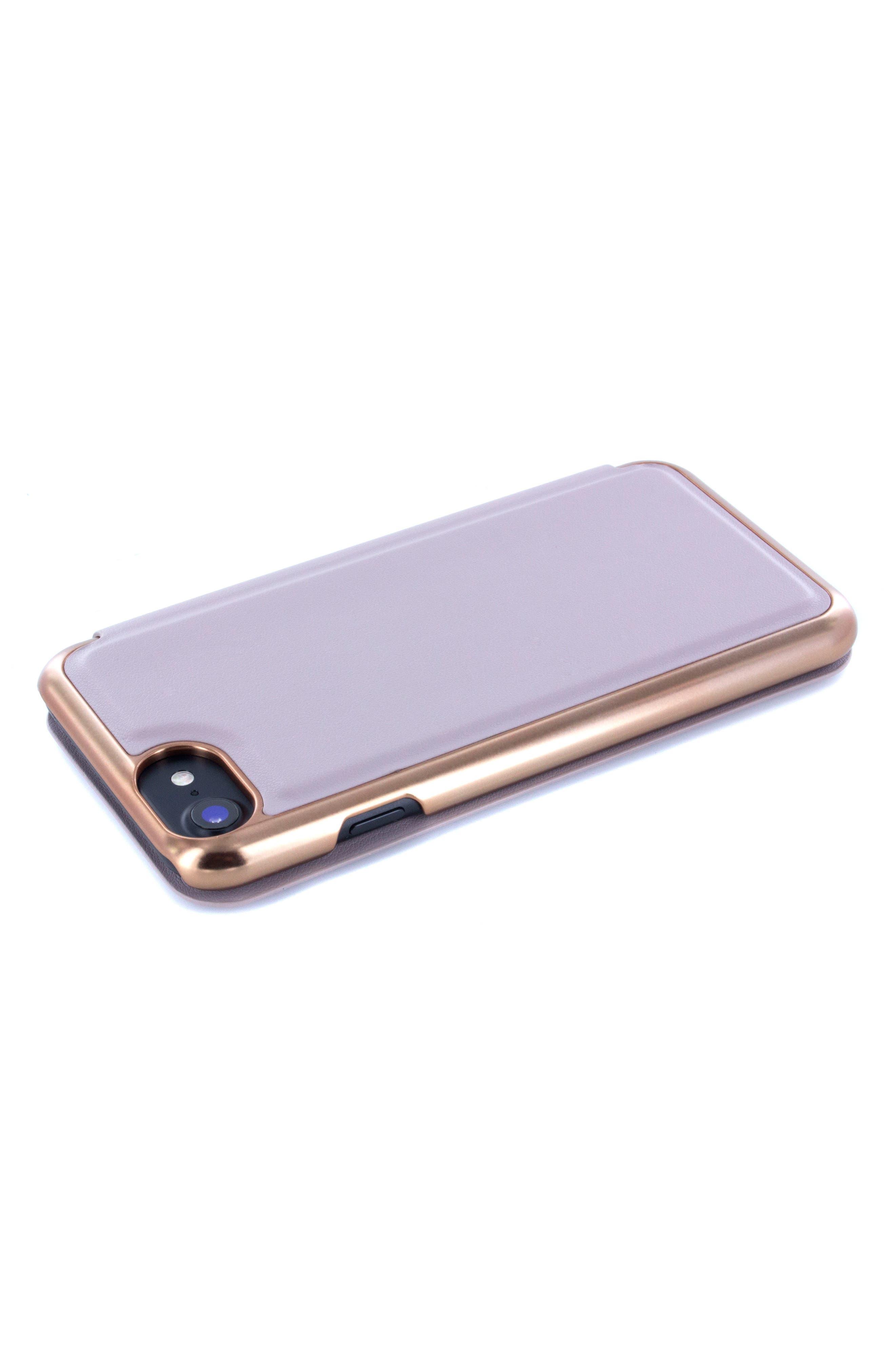 Shannon iPhone 6/6s/7/8 & 6/6s/7/8 Plus Mirror Folio Case,                             Alternate thumbnail 4, color,                             530
