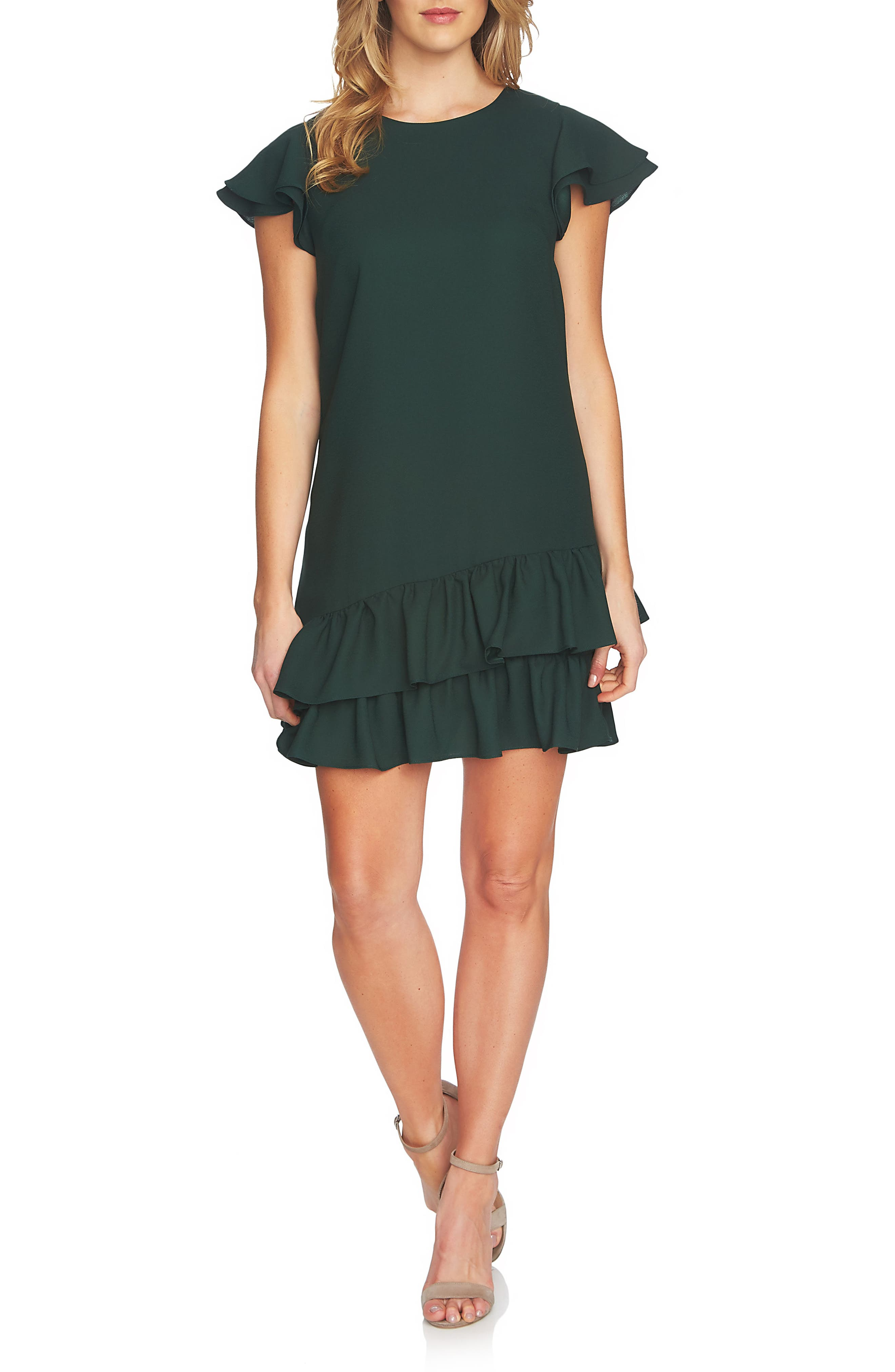 Claire Tiered Ruffle Dress,                             Main thumbnail 2, color,