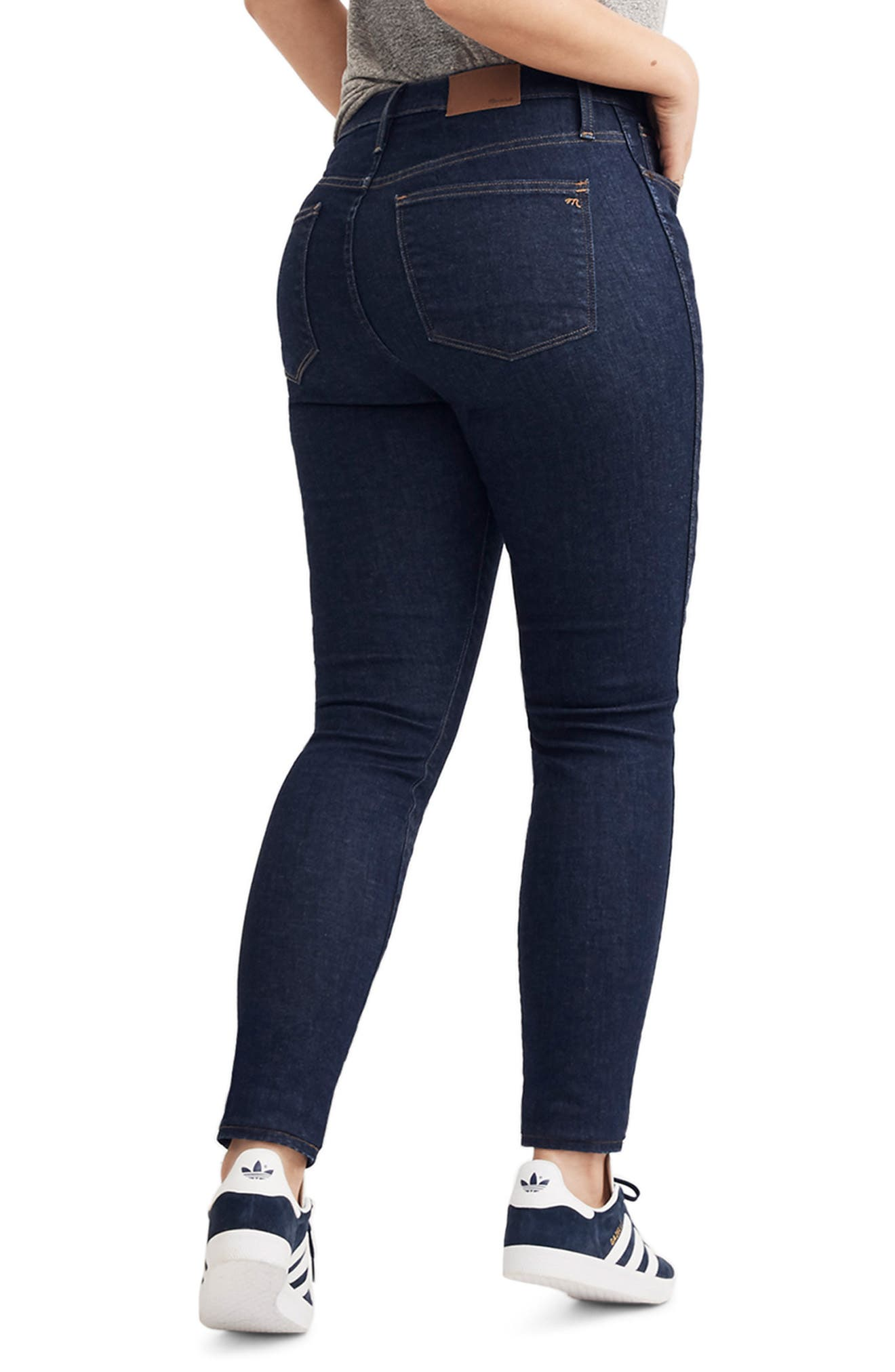 10-Inch High Waist Skinny Jeans,                             Alternate thumbnail 9, color,                             400