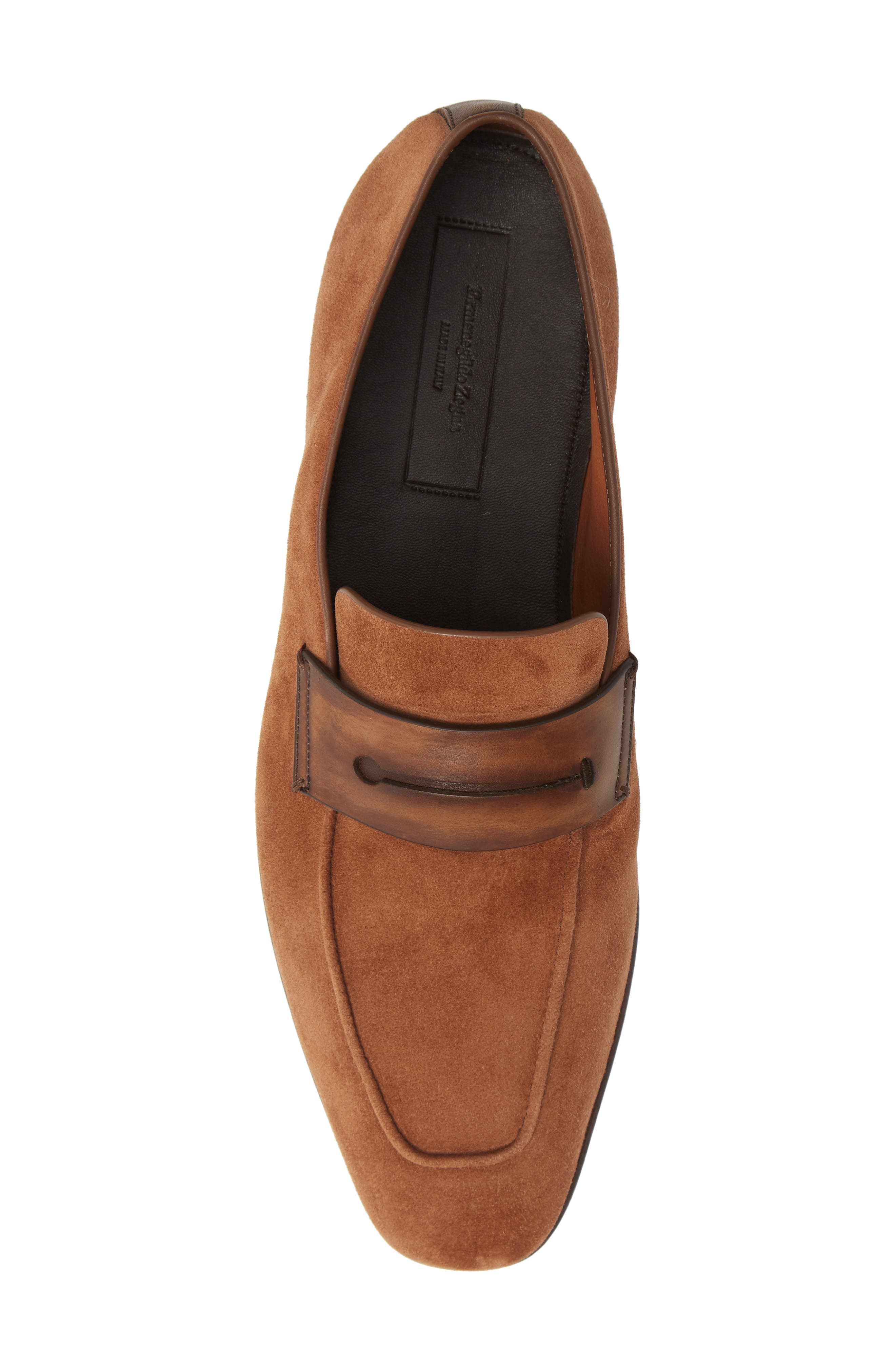 Penny Loafer,                             Alternate thumbnail 5, color,                             BROWN/BROWN
