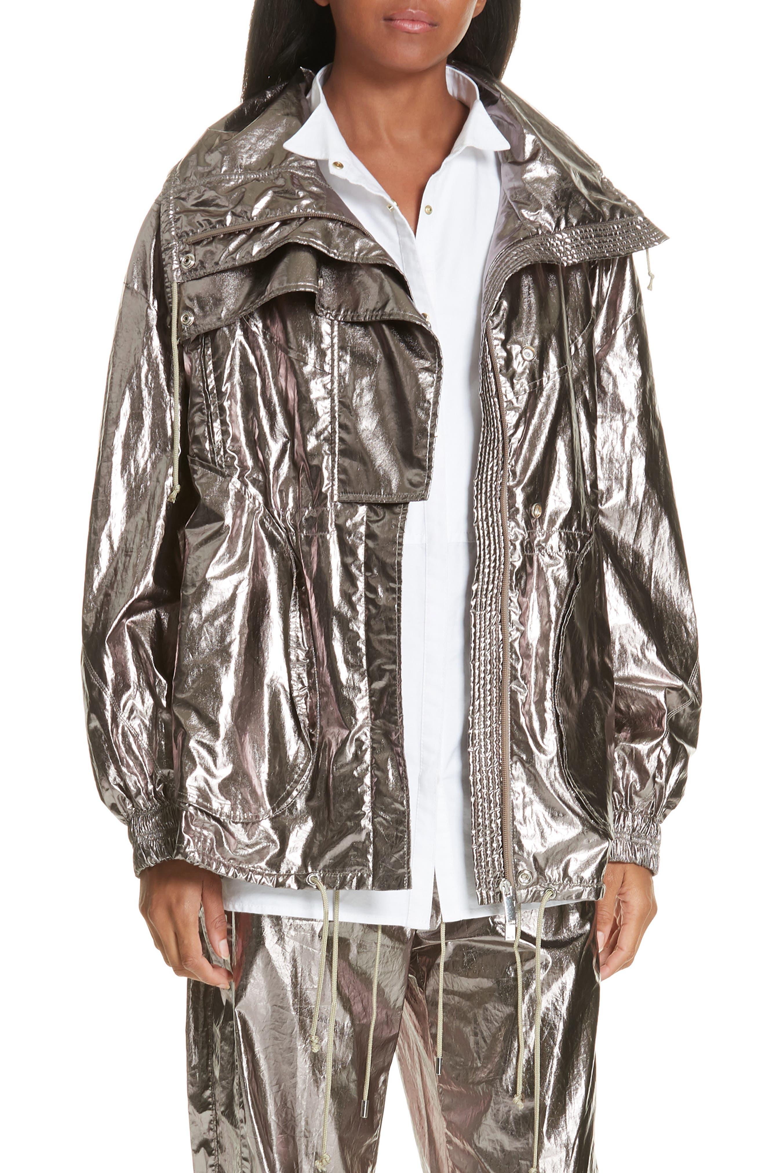 GREY JASON WU Metallic Foil Jacket in Silver