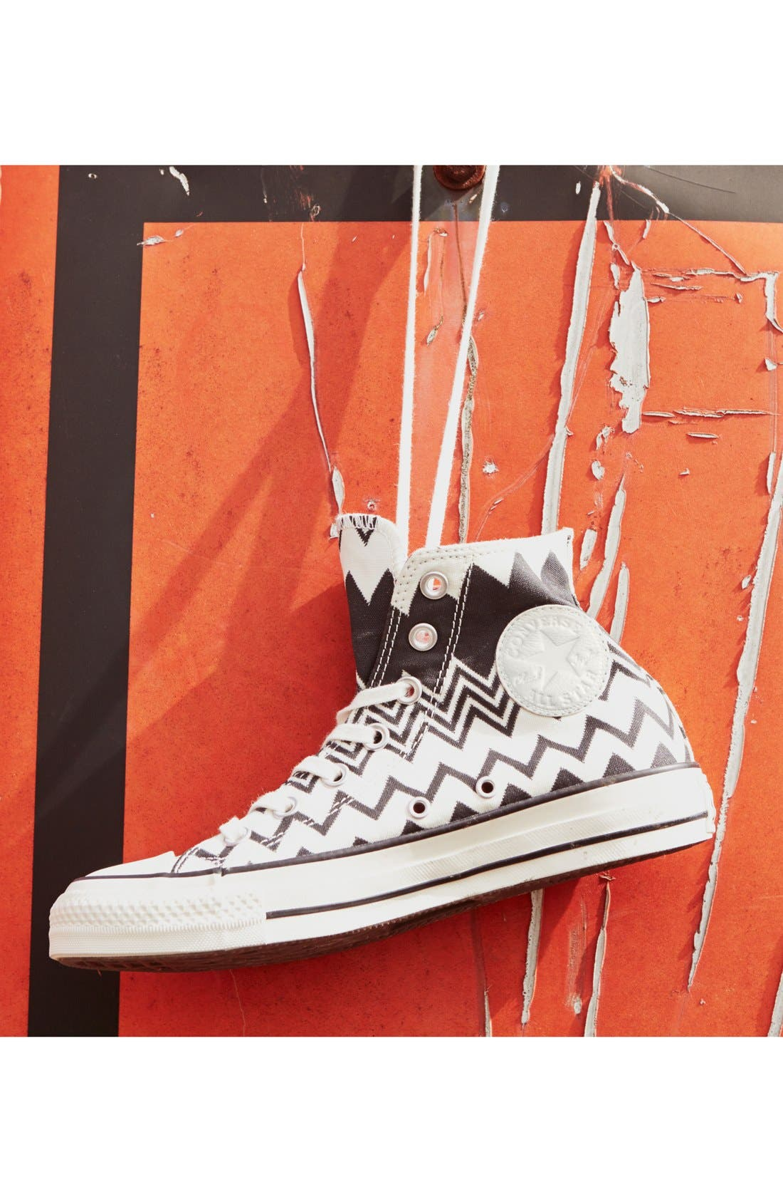 x Missoni Chuck Taylor<sup>®</sup> All Star<sup>®</sup> High Top Sneaker,                             Alternate thumbnail 5, color,                             001