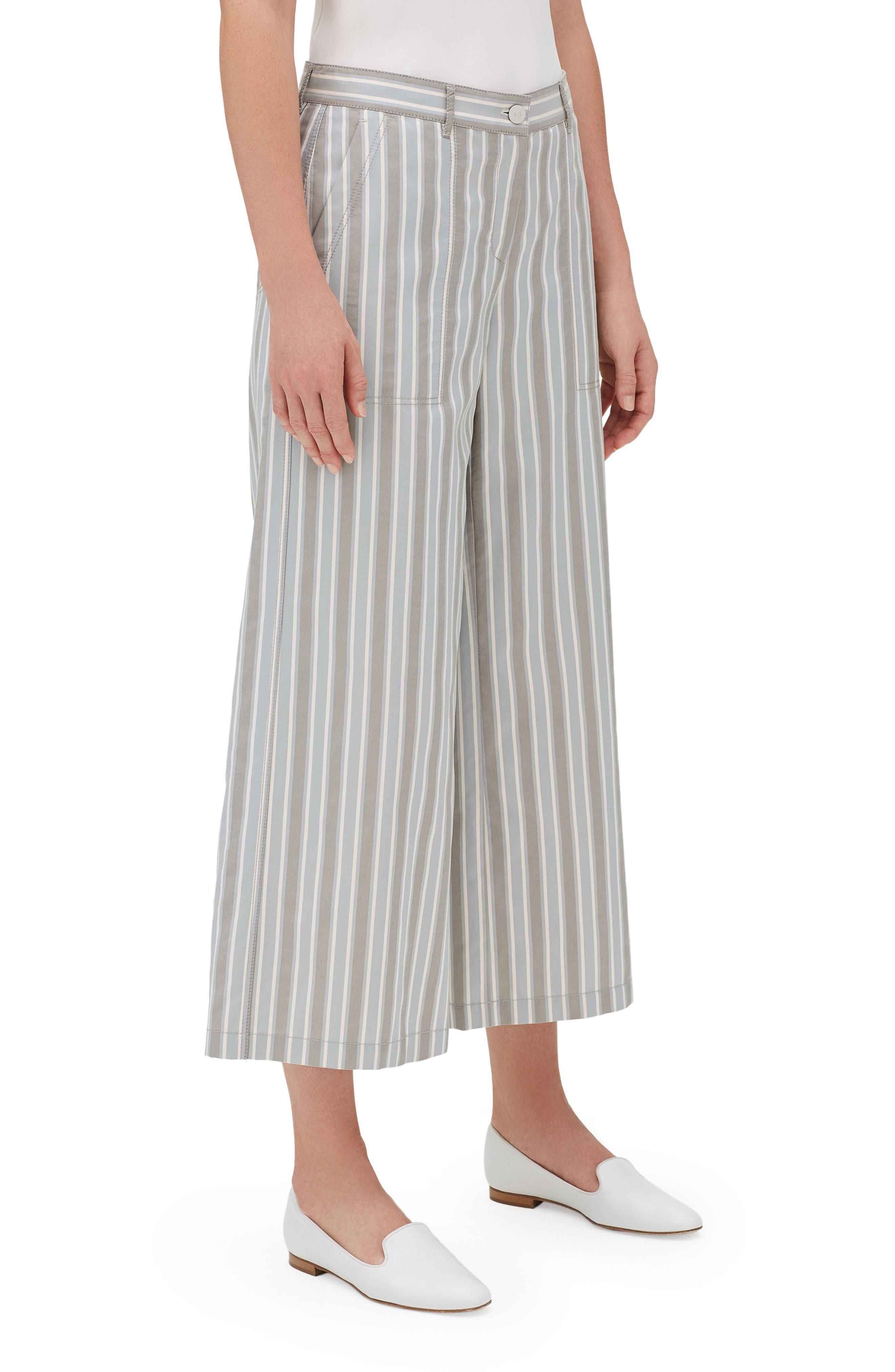 Fulton Elixir Stripe Crop Wide Leg Pants,                             Alternate thumbnail 3, color,                             MERCURY MULTI