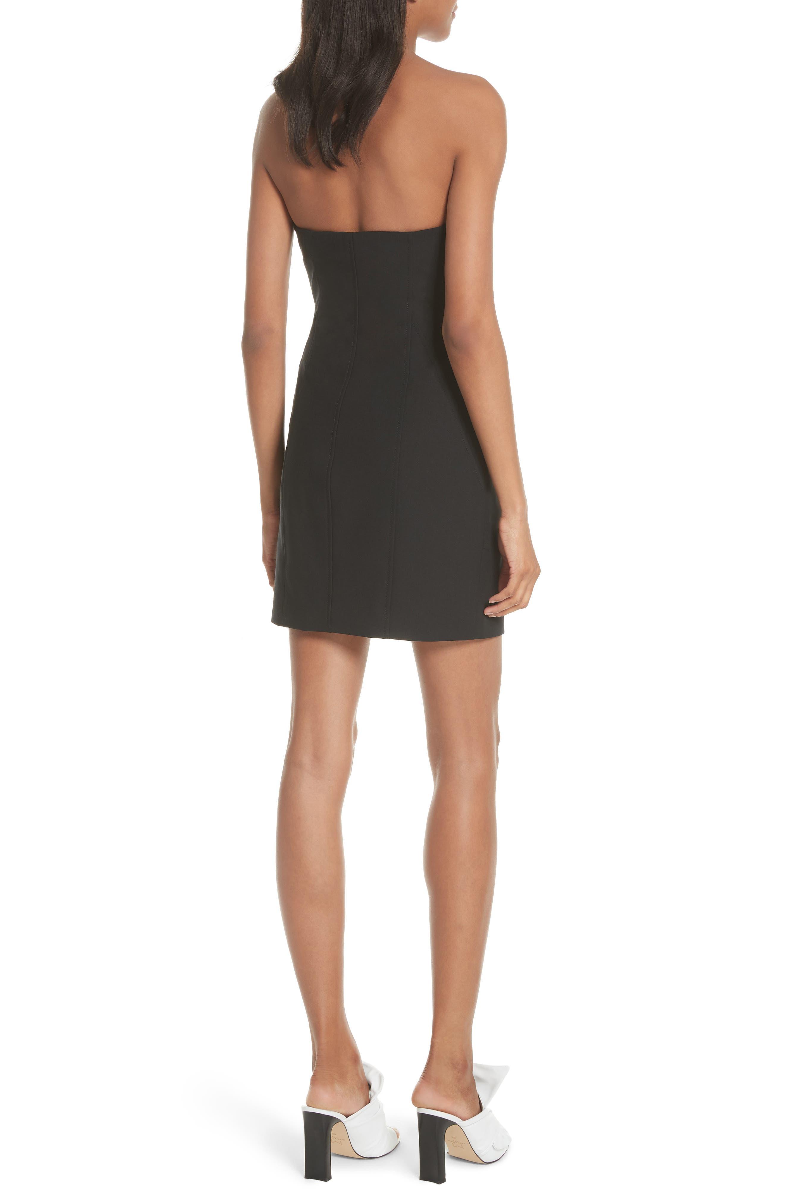Tristen Strapless Dress,                             Alternate thumbnail 2, color,                             001