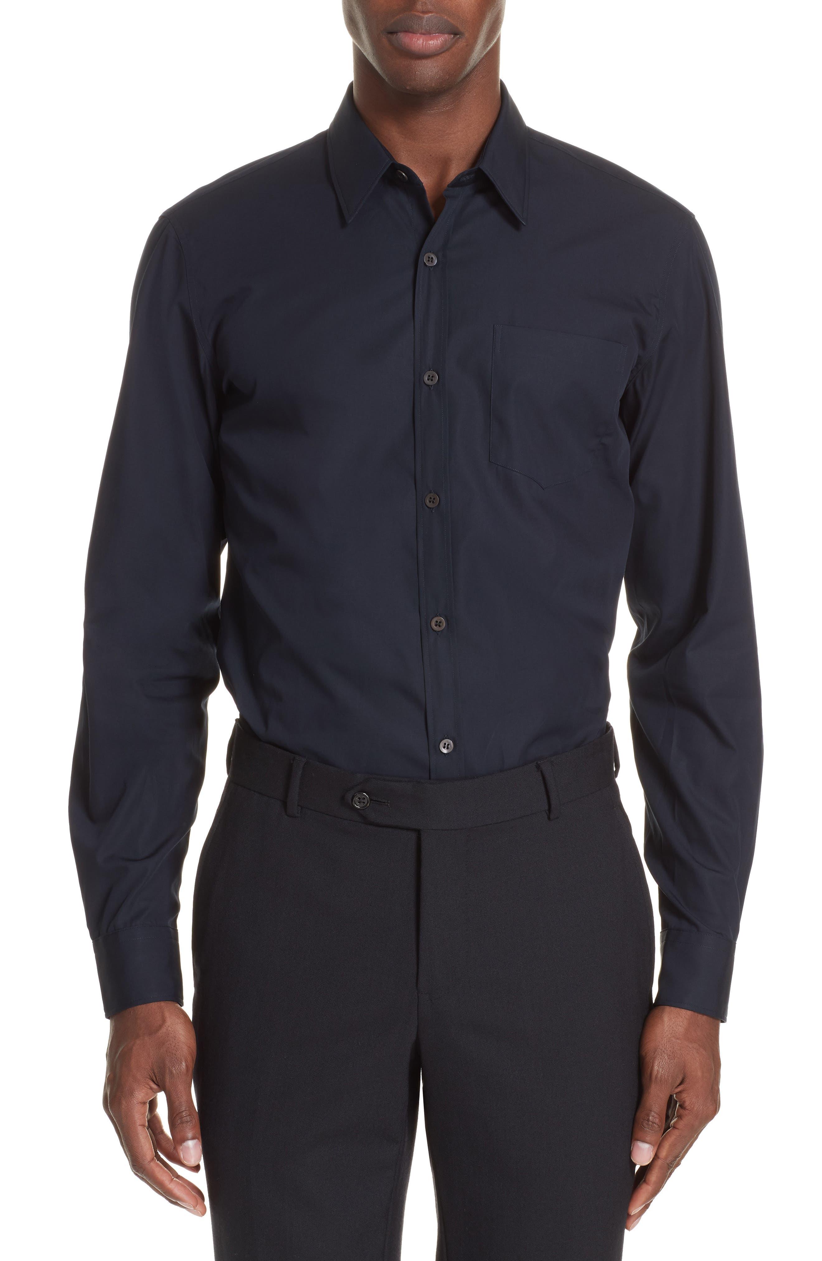 Corbin Sport Shirt,                         Main,                         color, MIDNIGHT