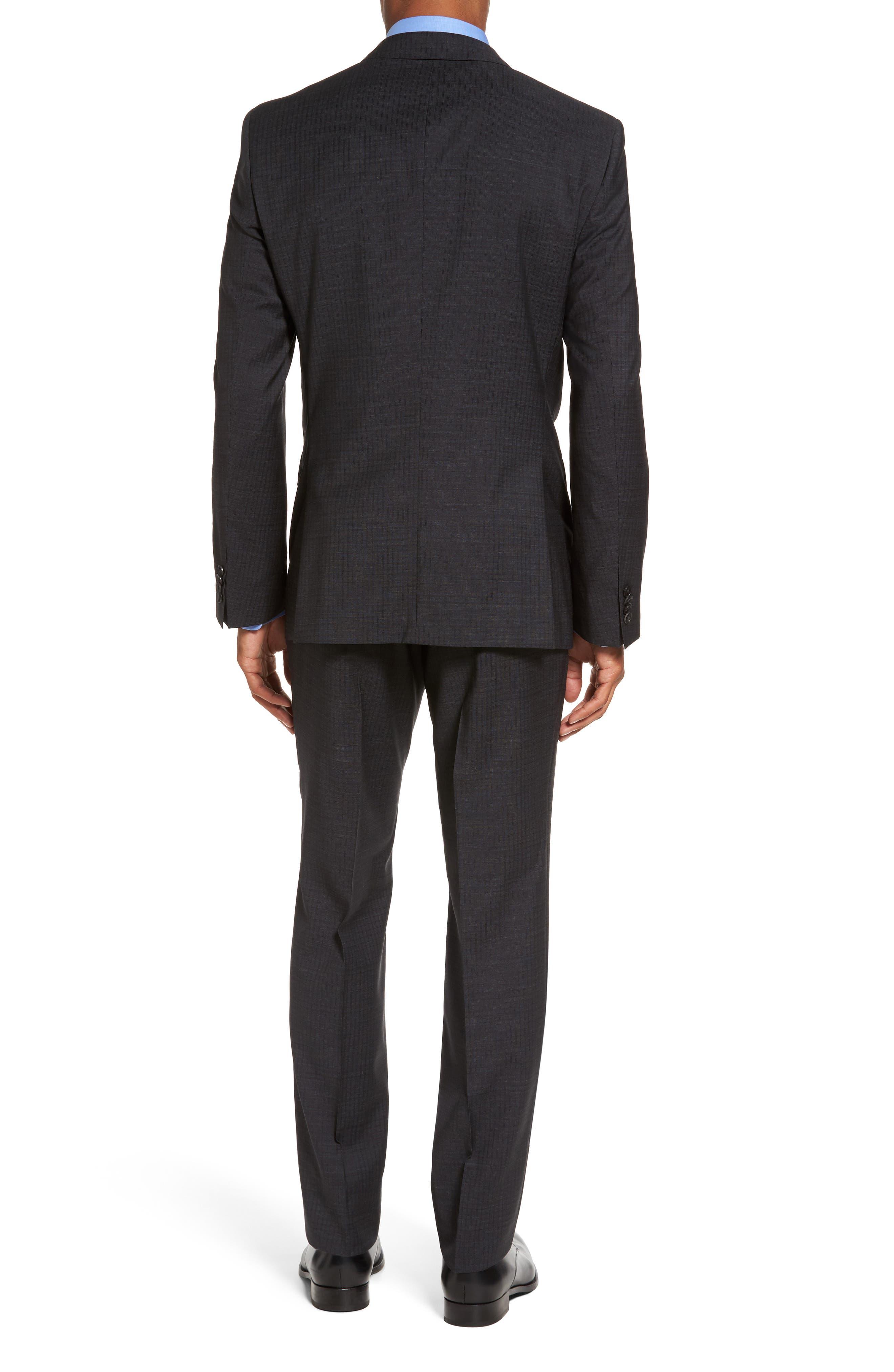 Huge/Genius Trim Fit Check Wool Suit,                             Alternate thumbnail 2, color,                             061