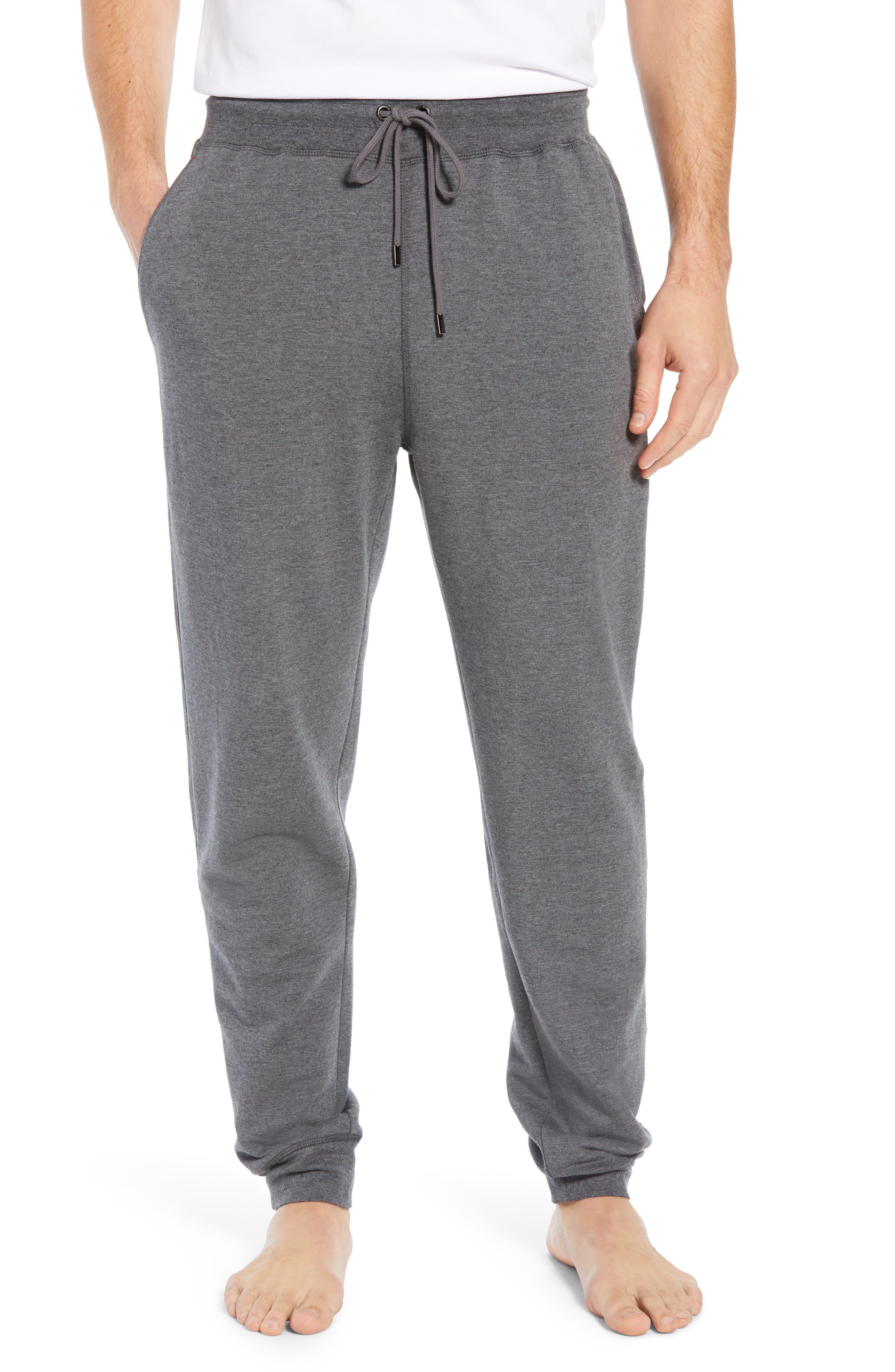 DANIEL BUCHLER Modal Blend Lounge Pants, Main, color, CHARCOAL HEATHER
