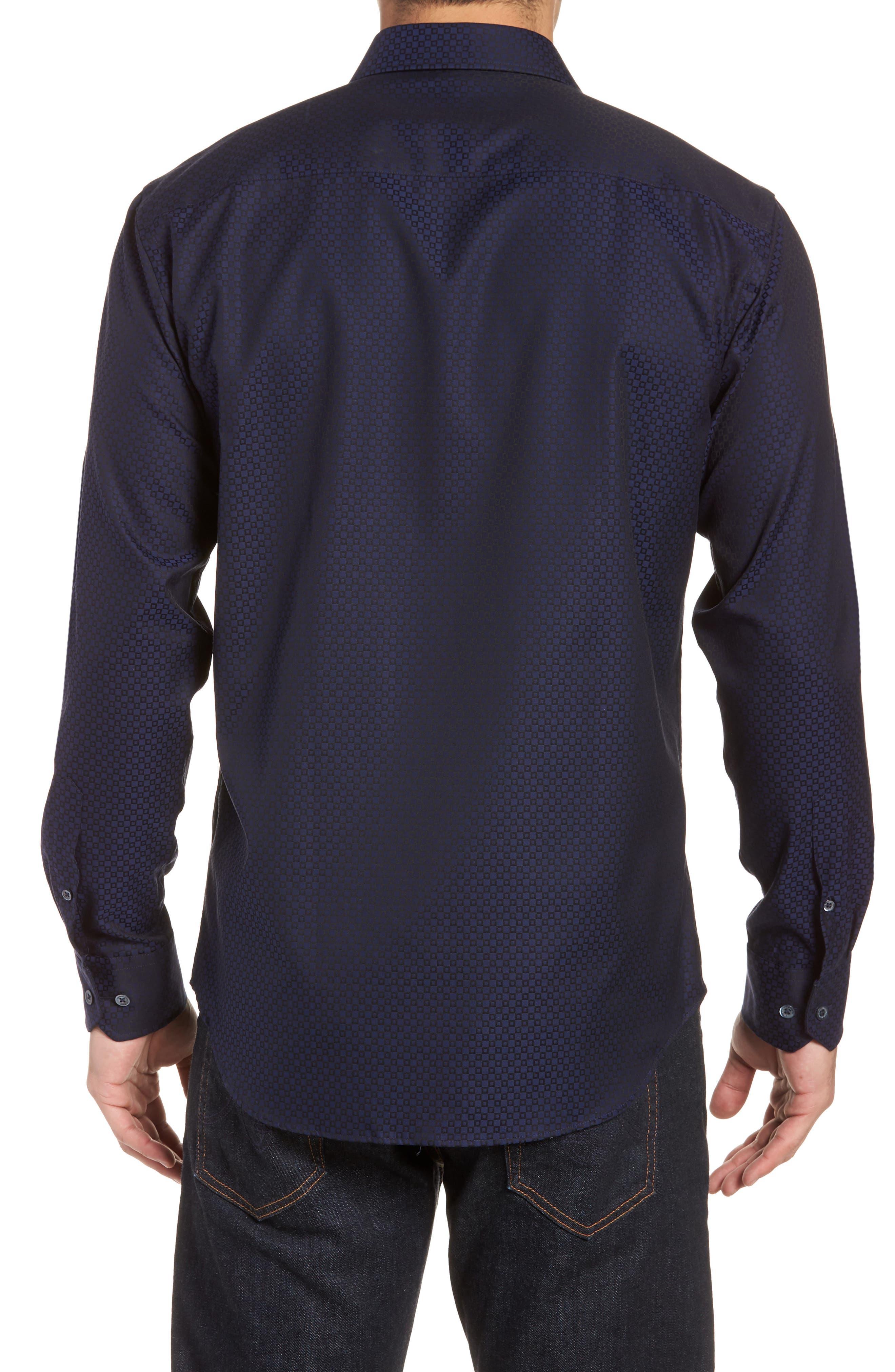Woven Sport Shirt,                             Alternate thumbnail 2, color,                             MIDNIGHT