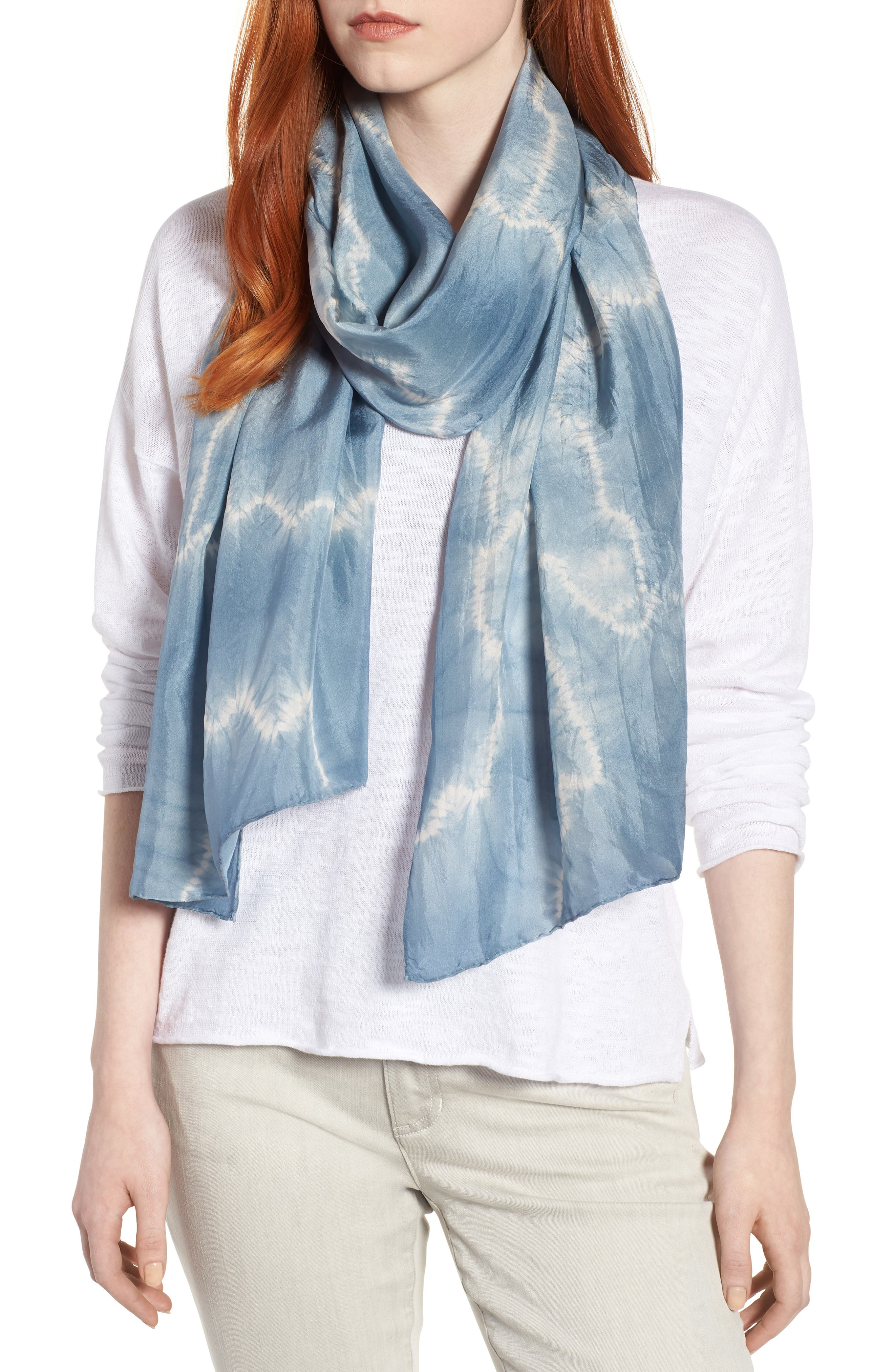 Tie Dye Silk Scarf,                         Main,                         color, 454