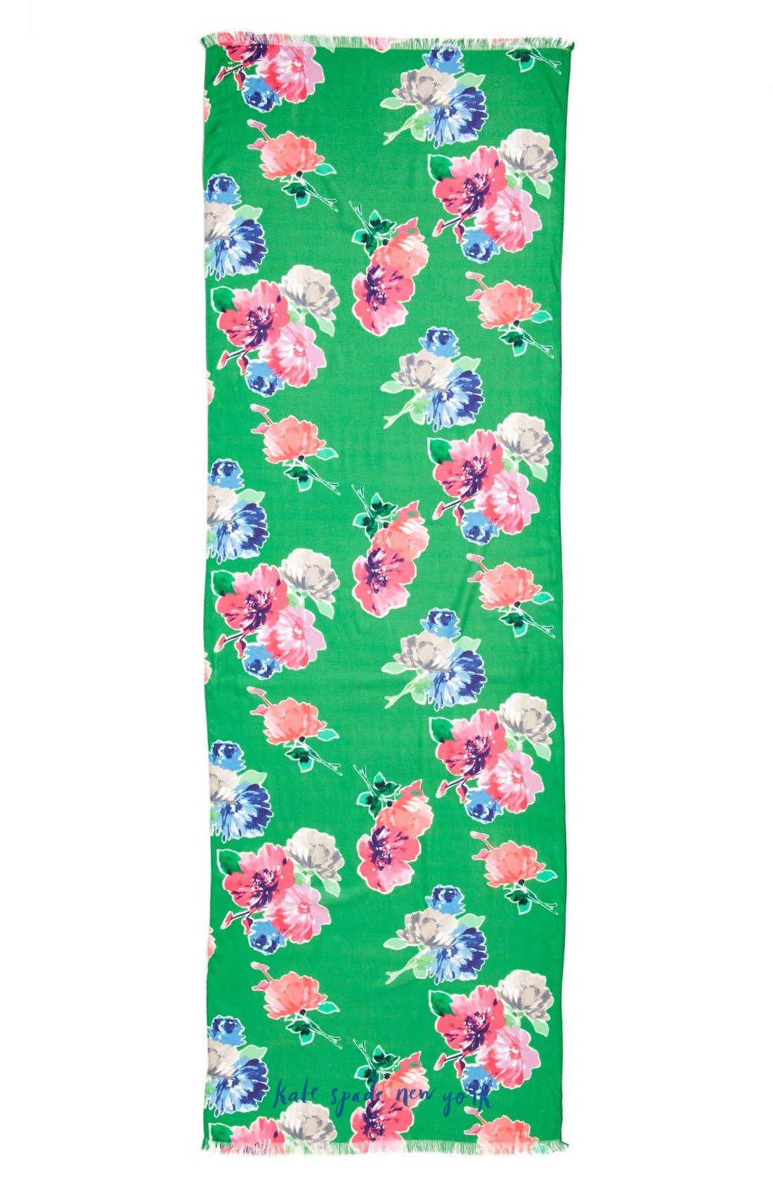 KATE SPADE NEW YORK,                             'spring blooms' scarf,                             Alternate thumbnail 2, color,                             300