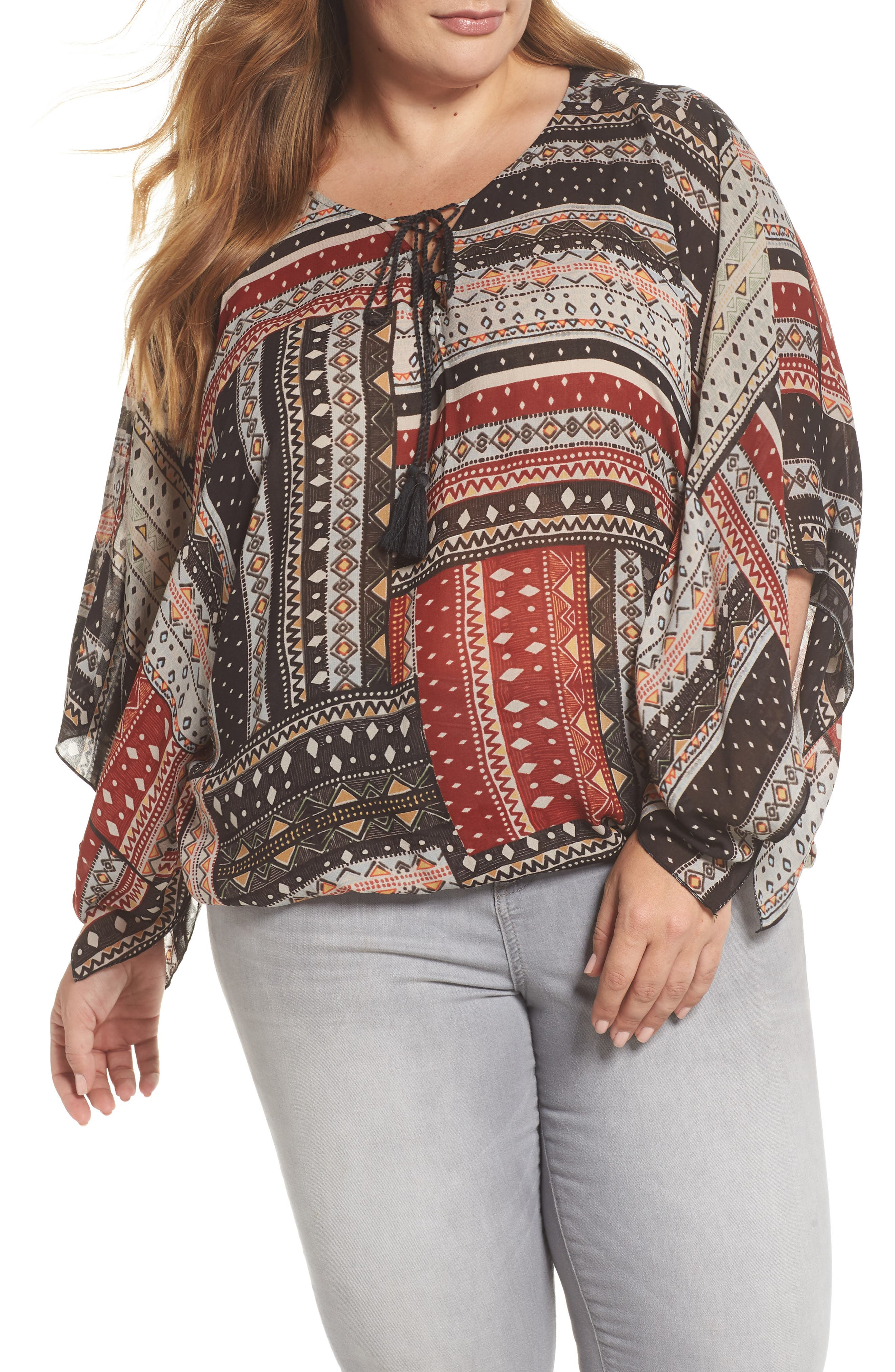 Poncho Top,                         Main,                         color, 209