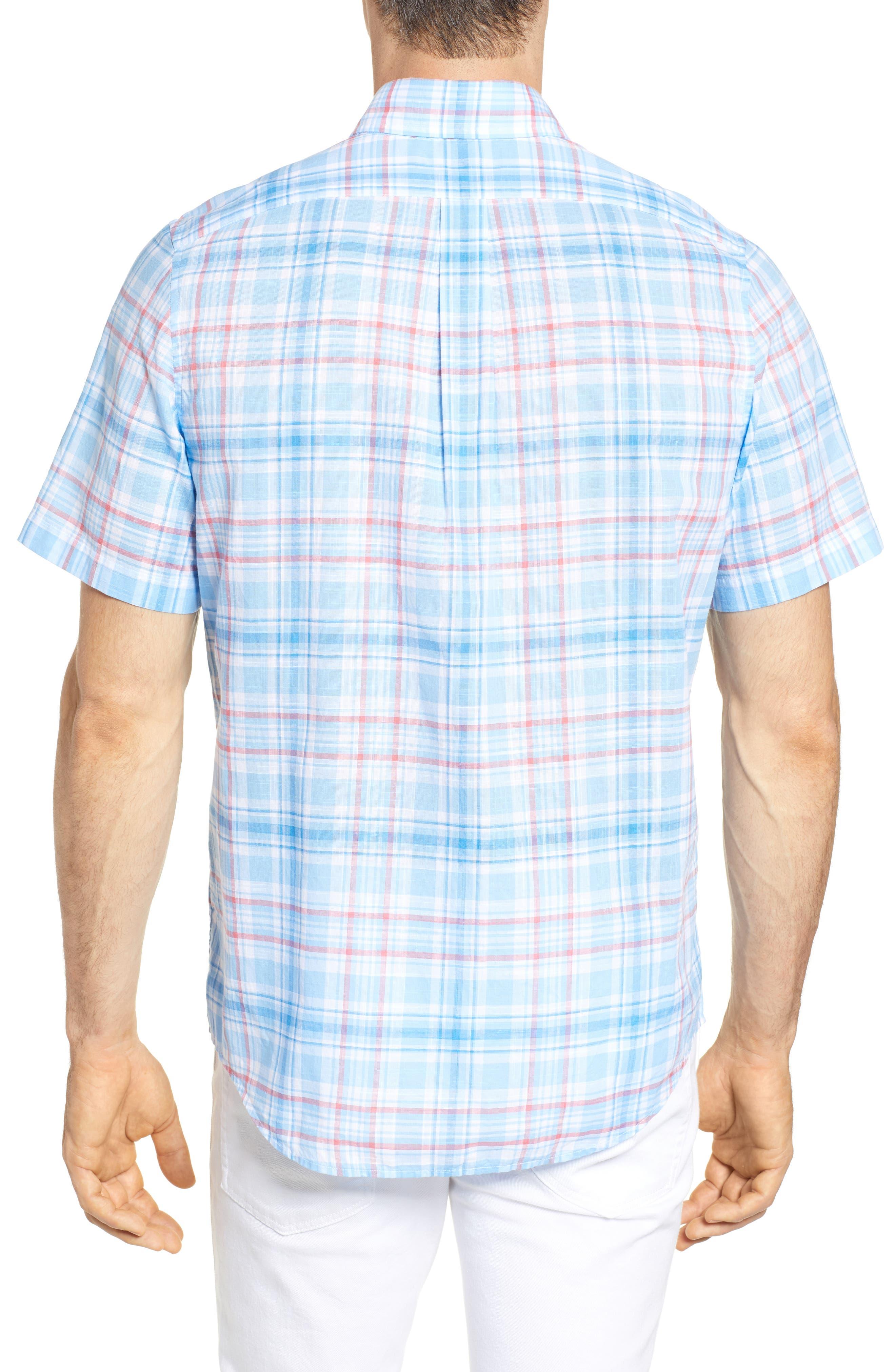 Fire Road Tucker Slim Fit Plaid Sport Shirt,                             Alternate thumbnail 2, color,                             484