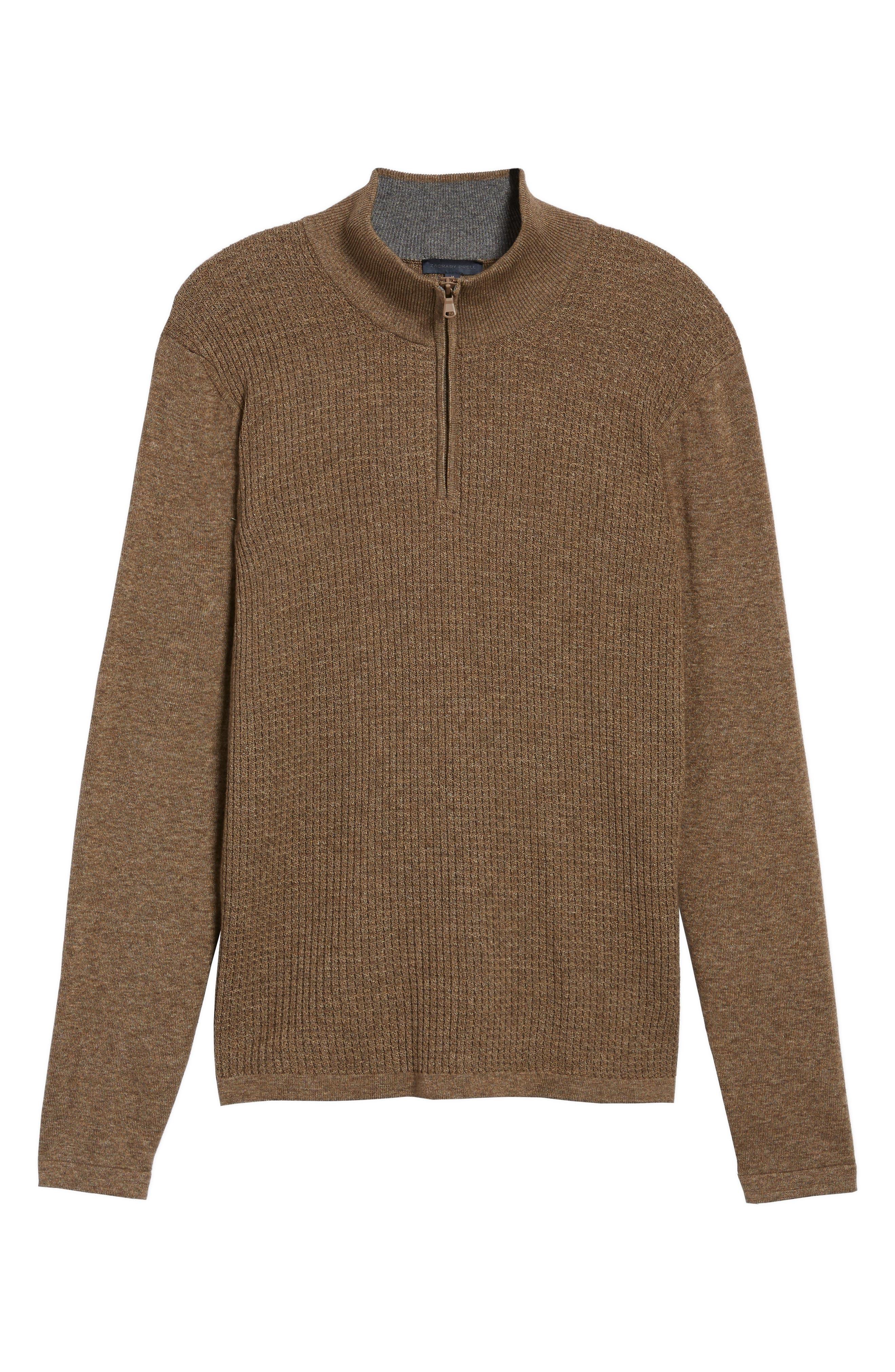 Higgins Quarter Zip Sweater,                             Alternate thumbnail 17, color,