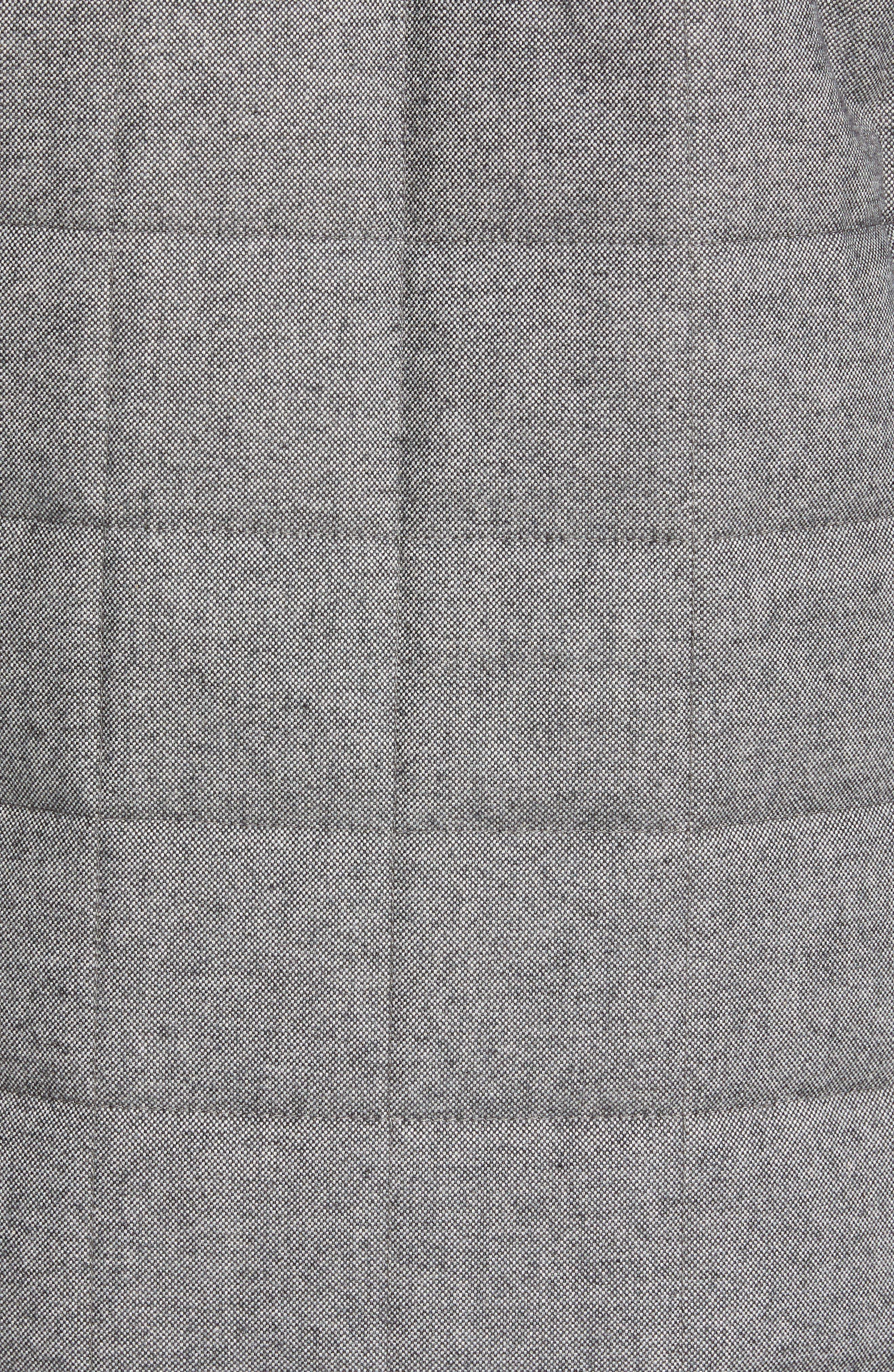 Quilted Herringbone Shirt Jacket,                             Alternate thumbnail 7, color,                             GREY COTTON HERRINGBONE
