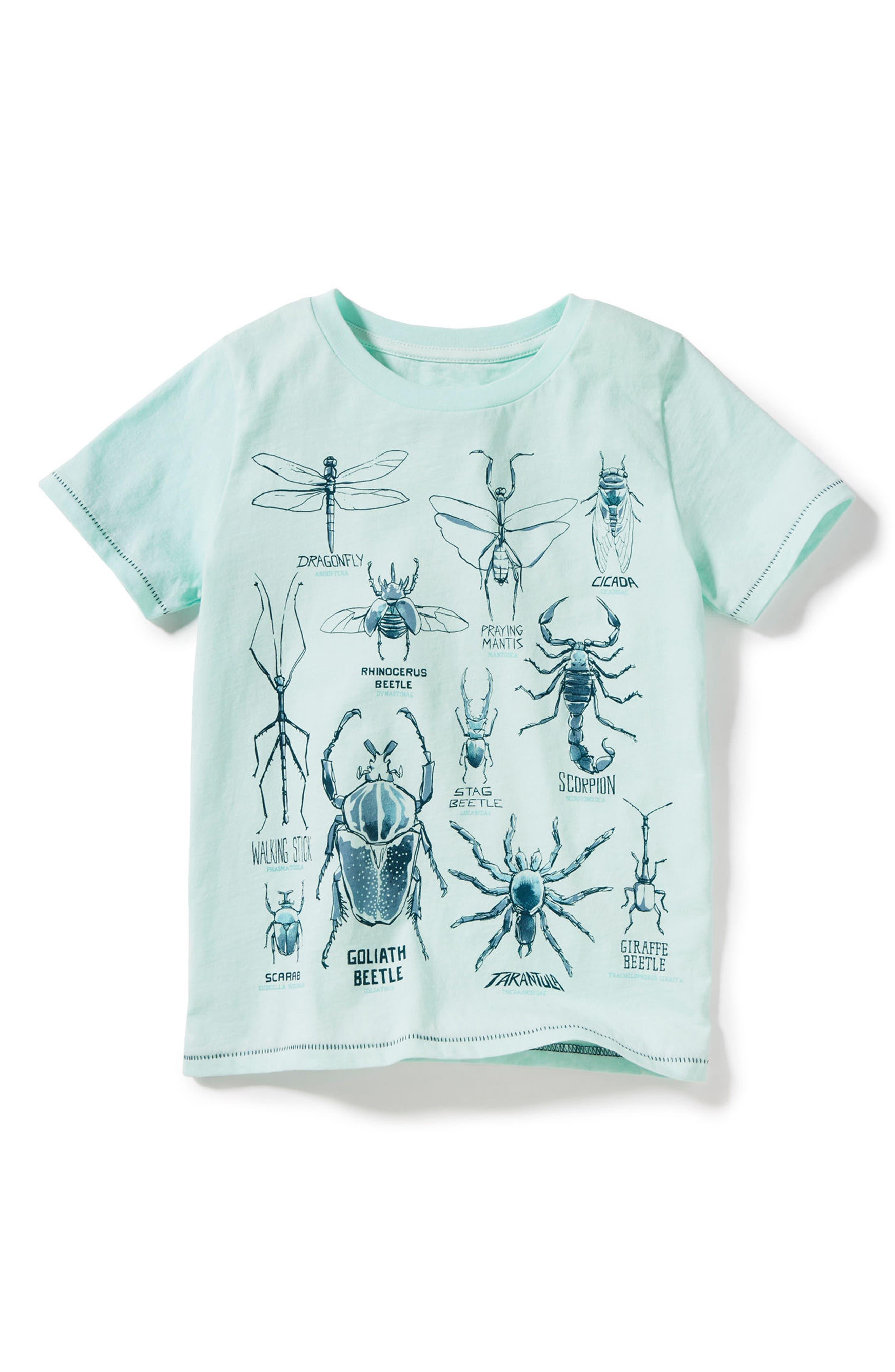 PEEK AREN'T YOU CURIOUS,                             Peek Bug Types Graphic T-Shirt,                             Main thumbnail 1, color,                             300