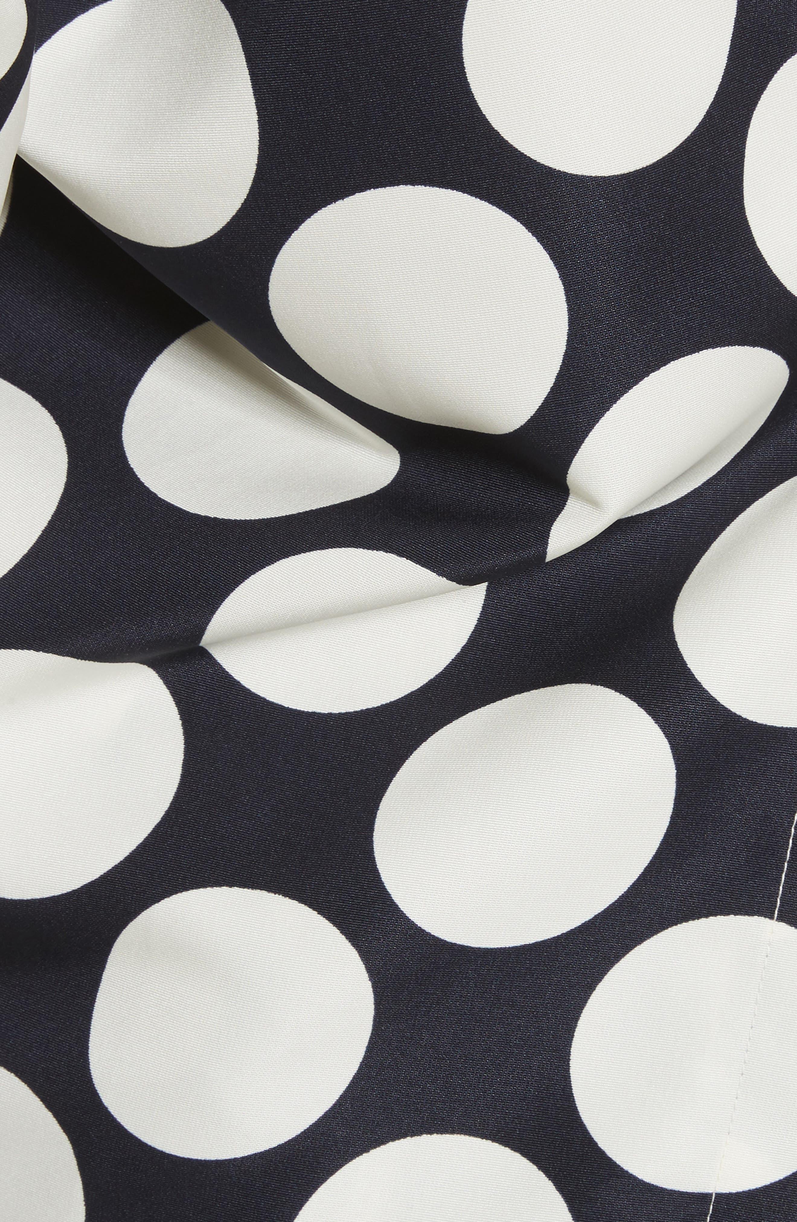 Giant Polka Dot Twisted One-Shoulder Top,                             Alternate thumbnail 5, color,                             410