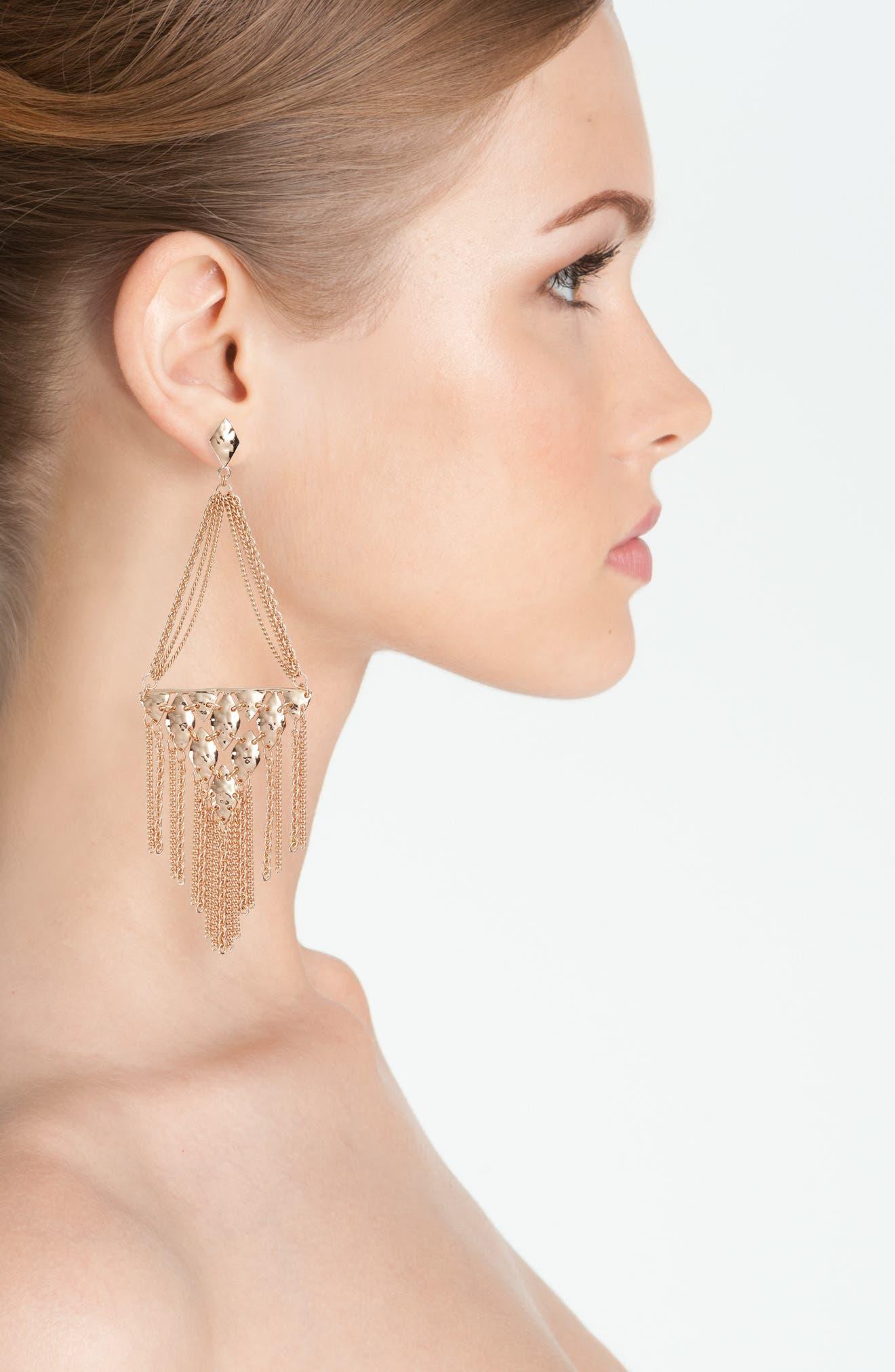 Mandy Drop Earrings,                             Alternate thumbnail 5, color,
