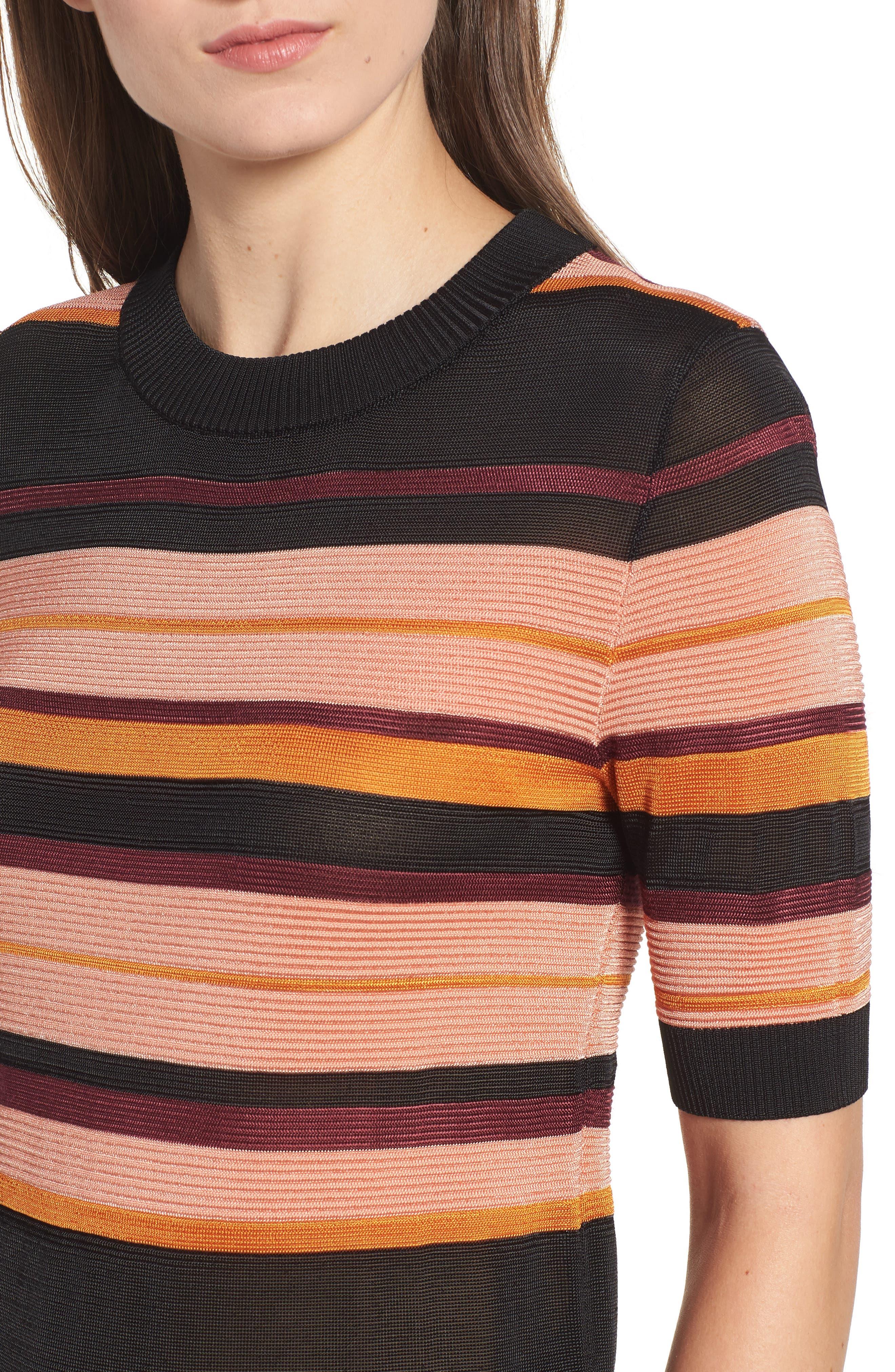 Stripe Knit Top,                             Alternate thumbnail 4, color,                             931